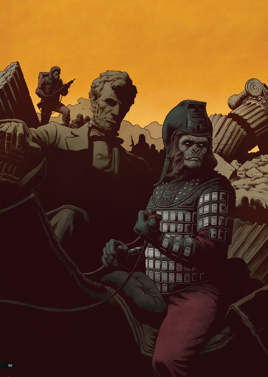 Read online Planet of the Apes Artist Tribute comic -  Issue # TPB - 86