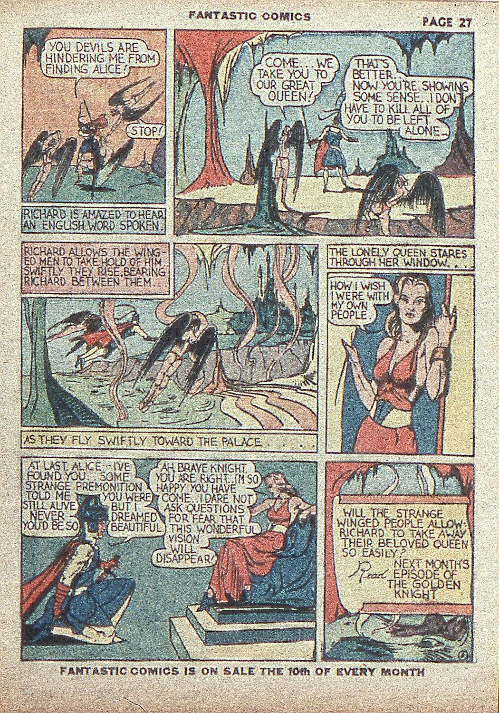 Read online Fantastic Comics comic -  Issue #4 - 29