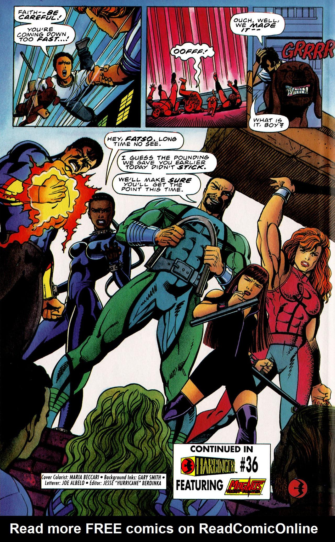 Read online Harbinger (1992) comic -  Issue #35 - 22
