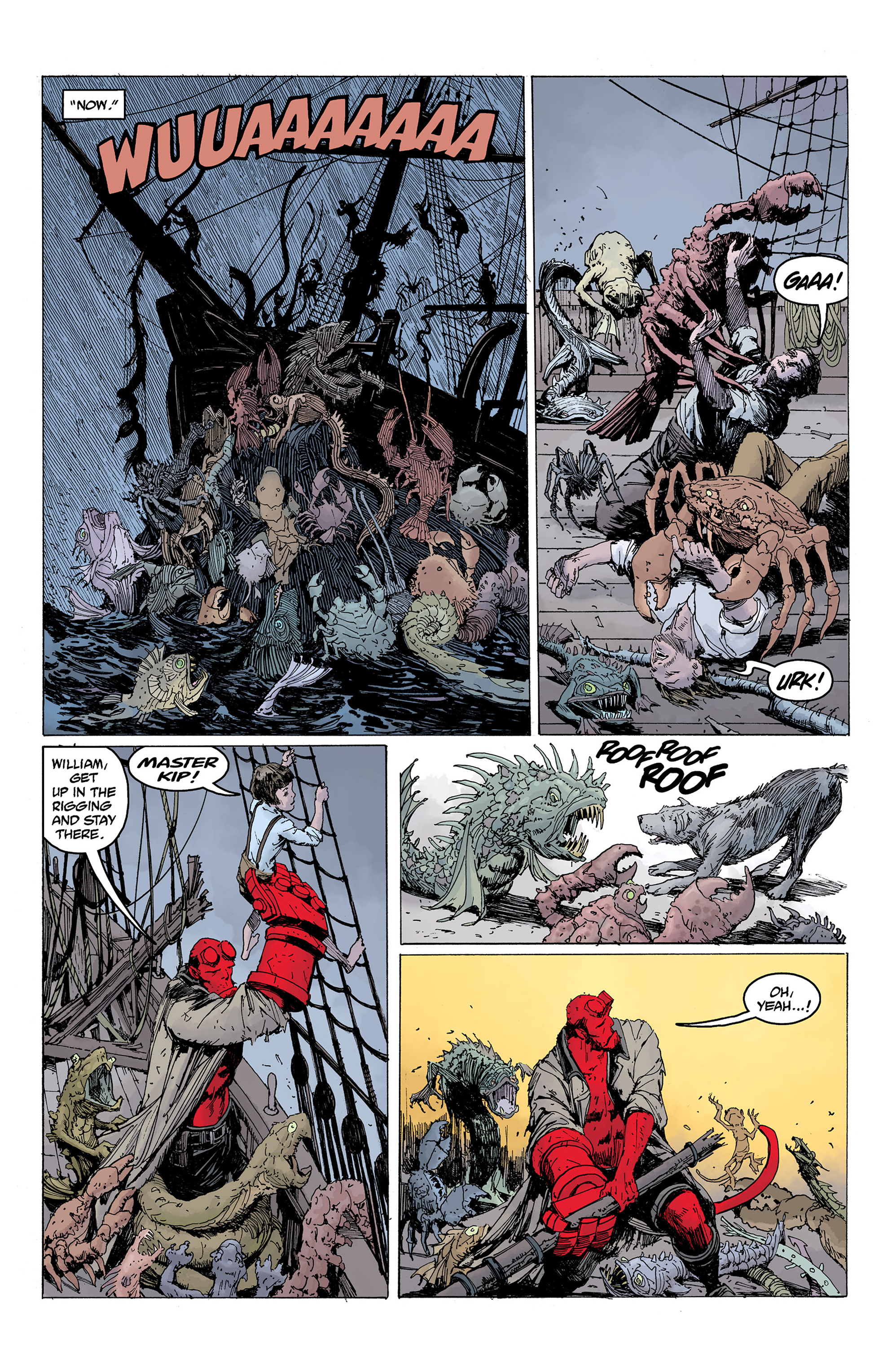 Read online Hellboy: Into the Silent Sea comic -  Issue # Full - 46