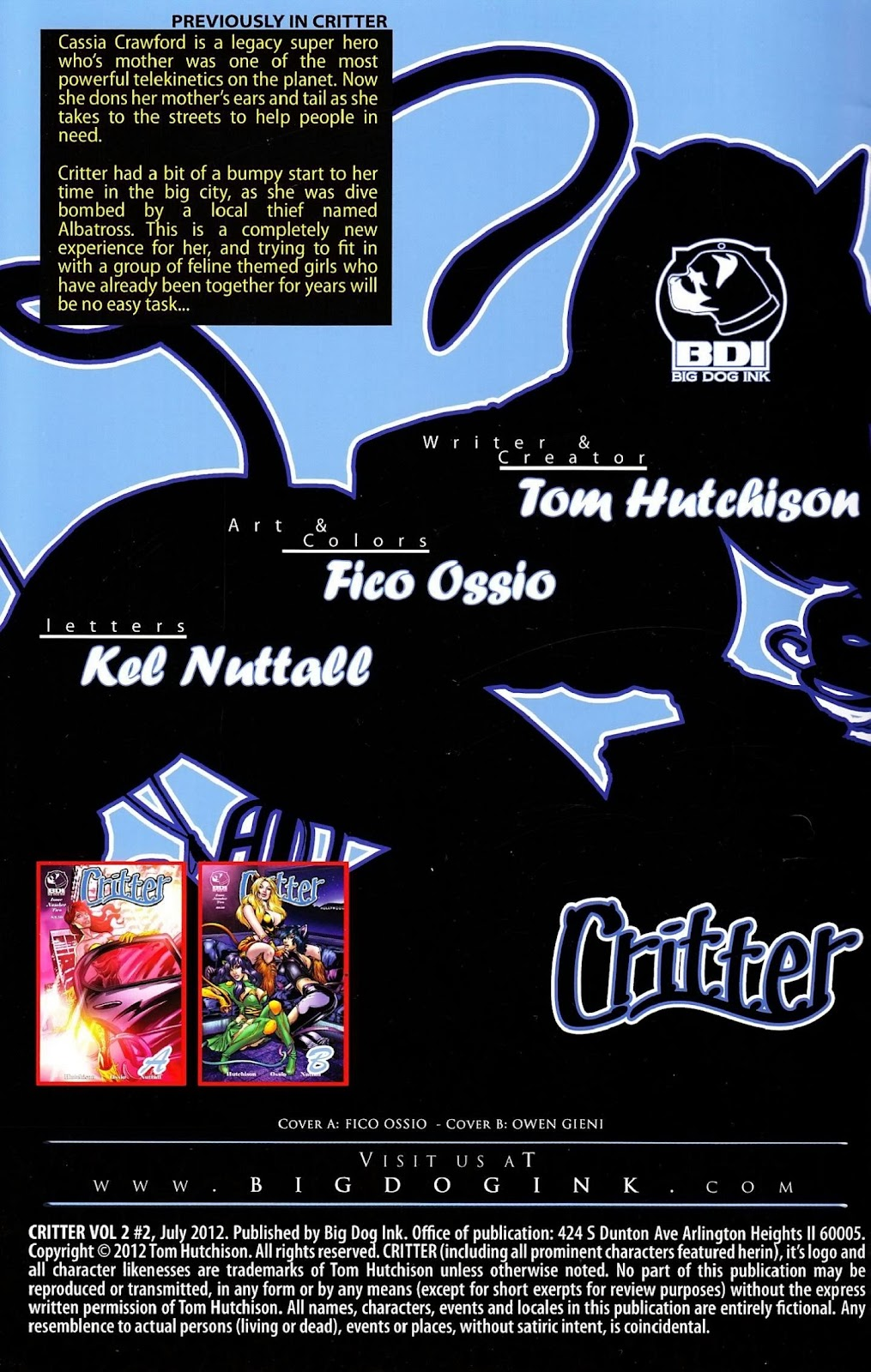 Read online Critter (2012) comic -  Issue #2 - 2