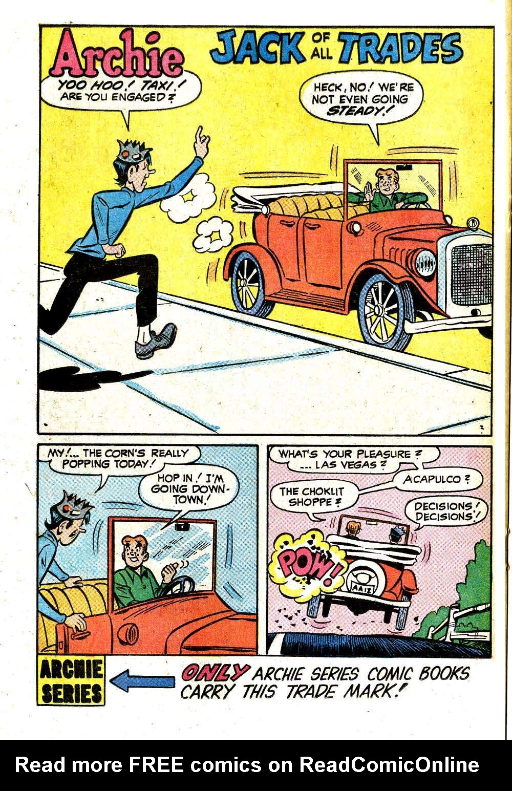 Read online Archie (1960) comic -  Issue #209 - 20