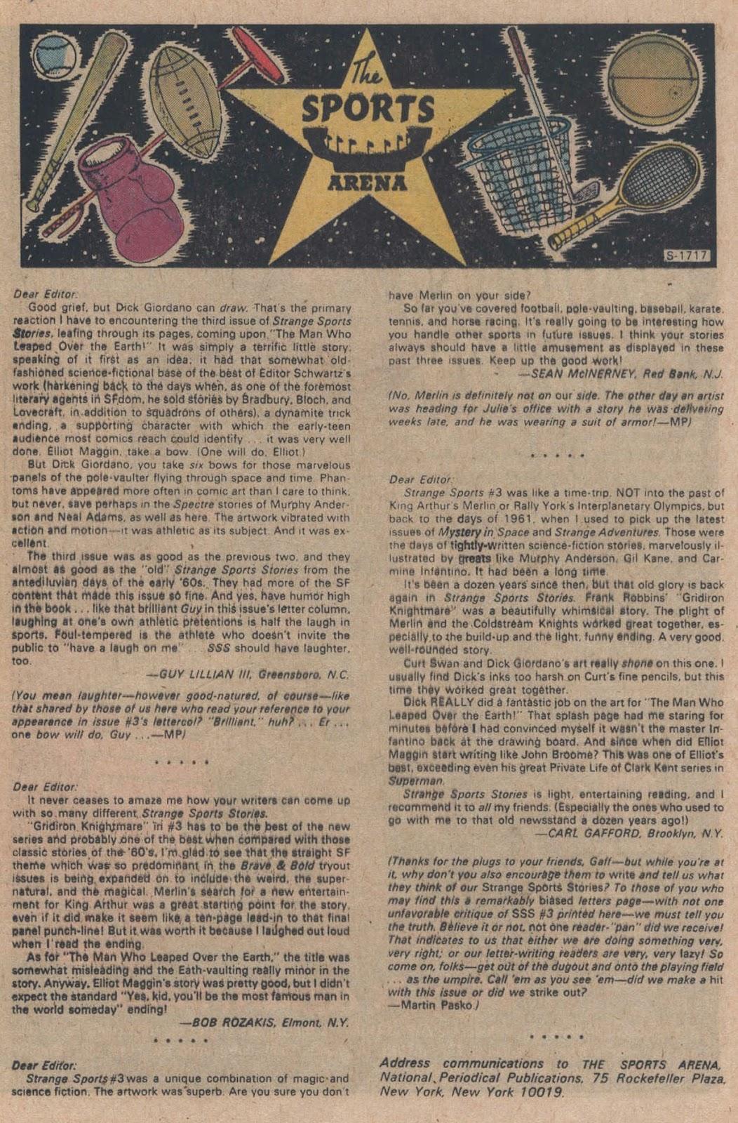 Read online Strange Sports Stories (1973) comic -  Issue #5 - 17