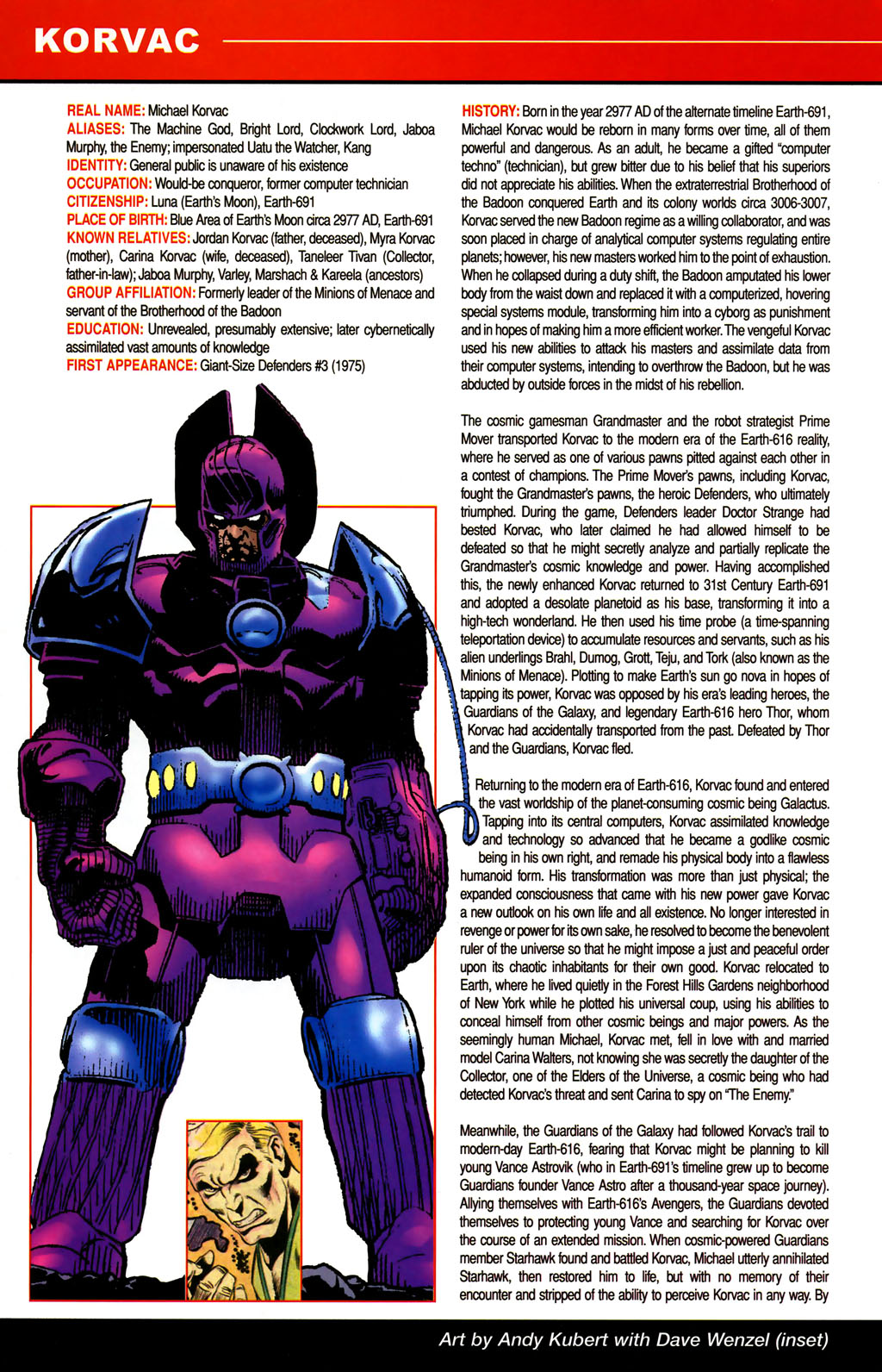 Read online All-New Official Handbook of the Marvel Universe A to Z comic -  Issue #6 - 18