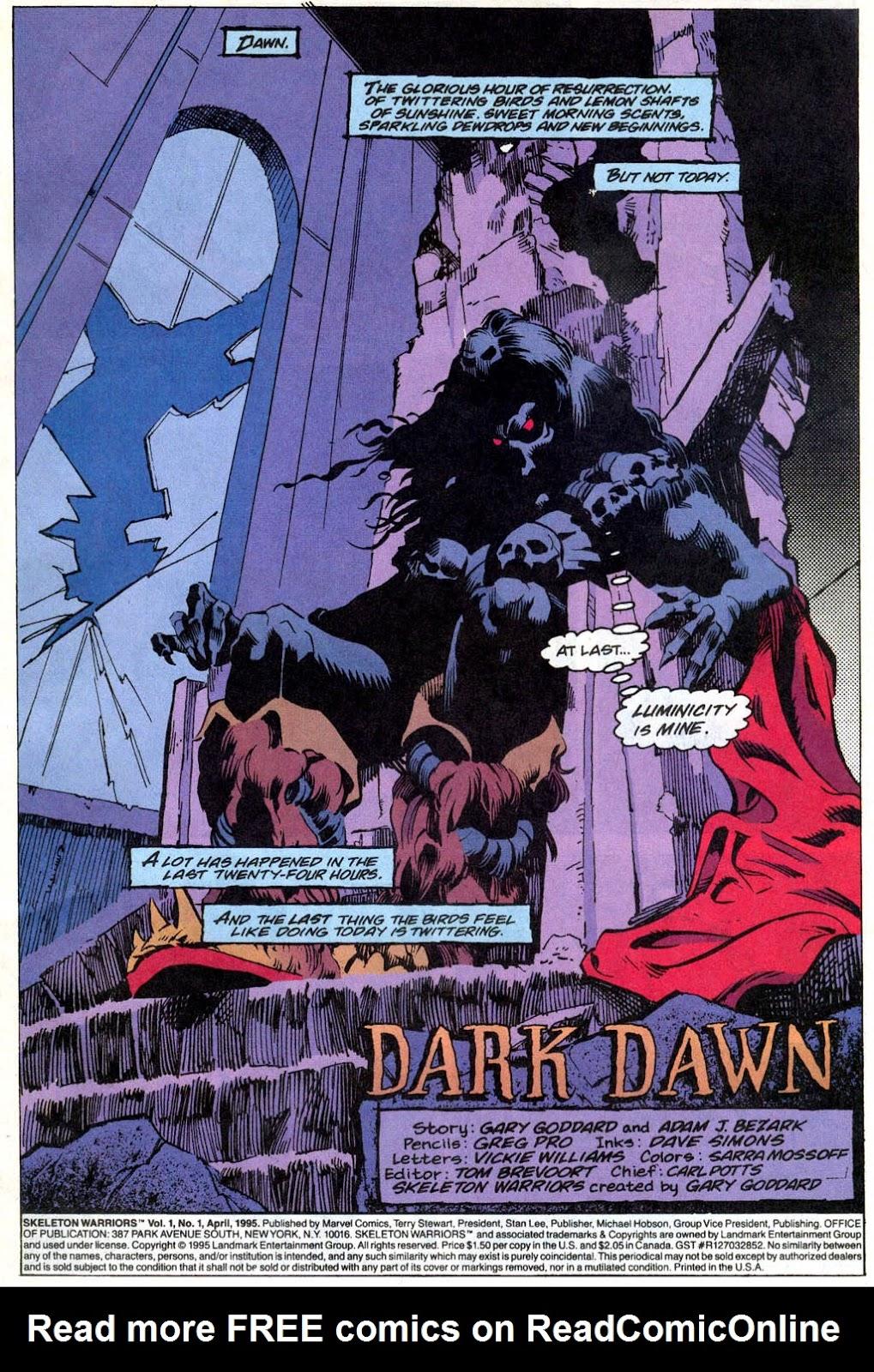 Skeleton Warriors Issue #1 #1 - English 2