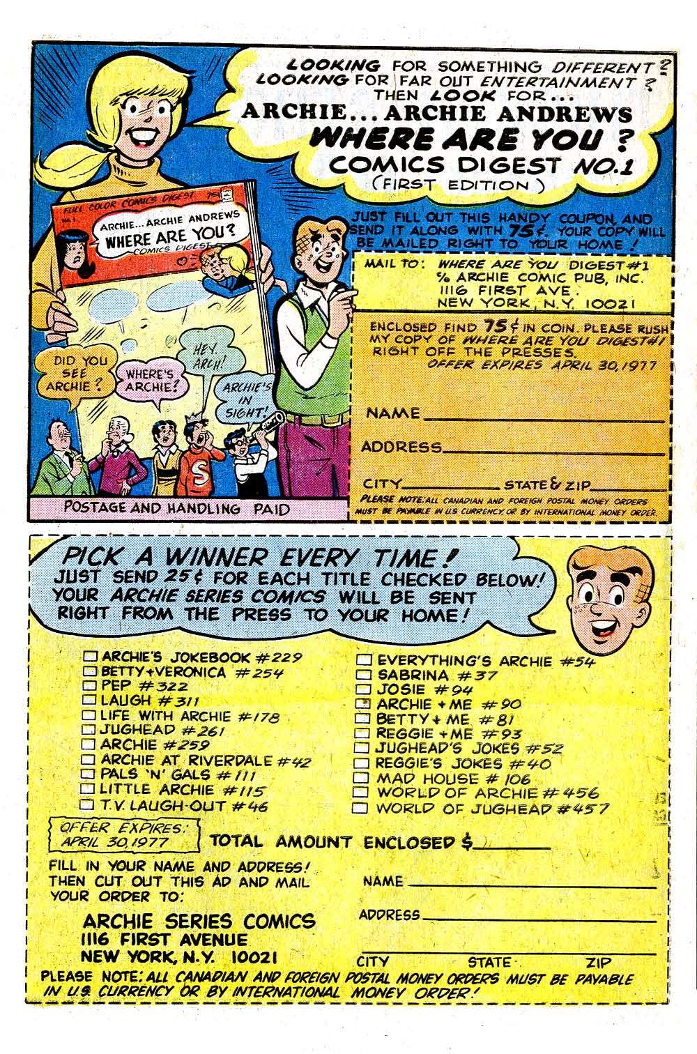 Read online Archie (1960) comic -  Issue #259 - 27