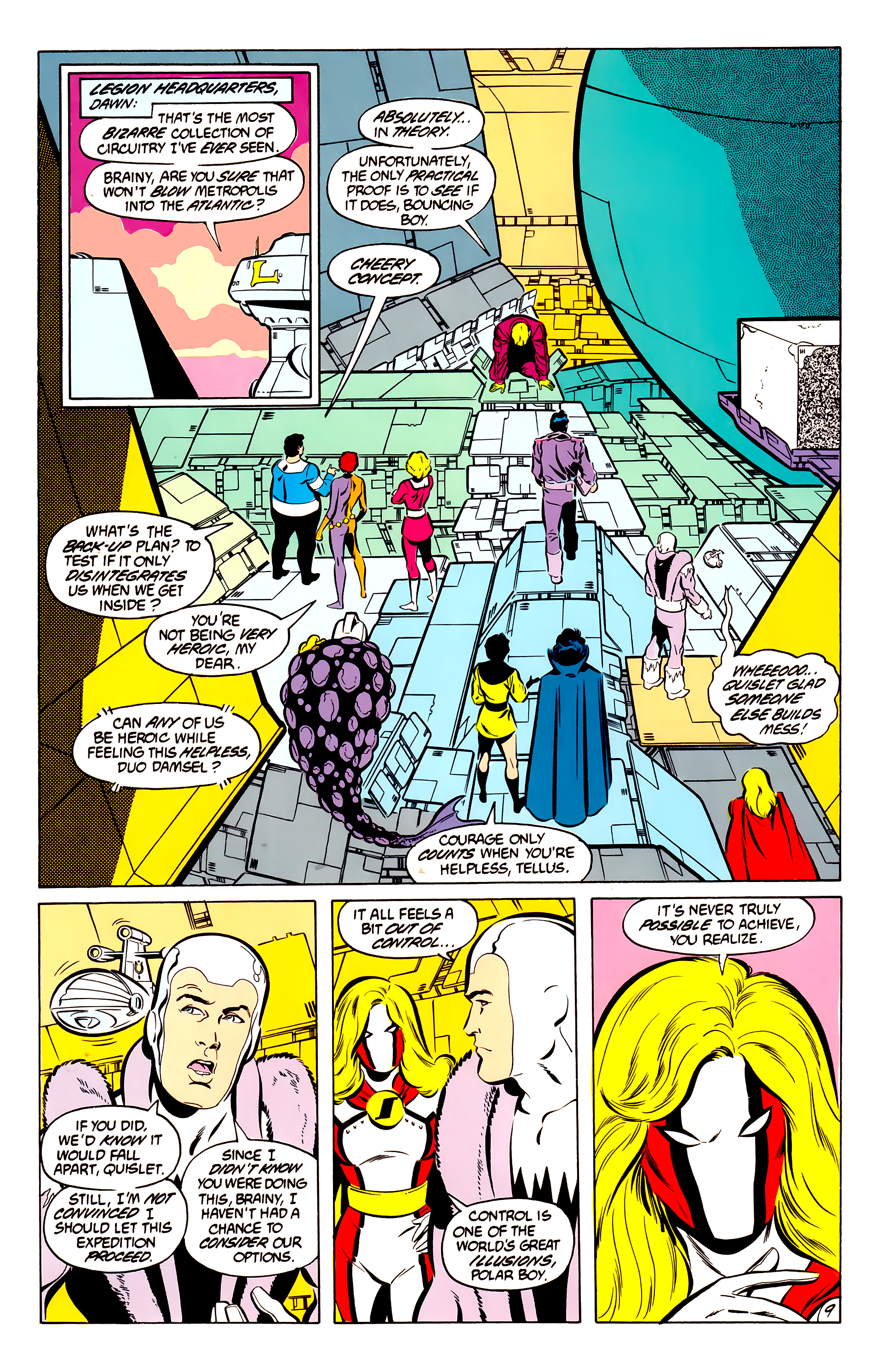 Legion of Super-Heroes (1984) 50 Page 9