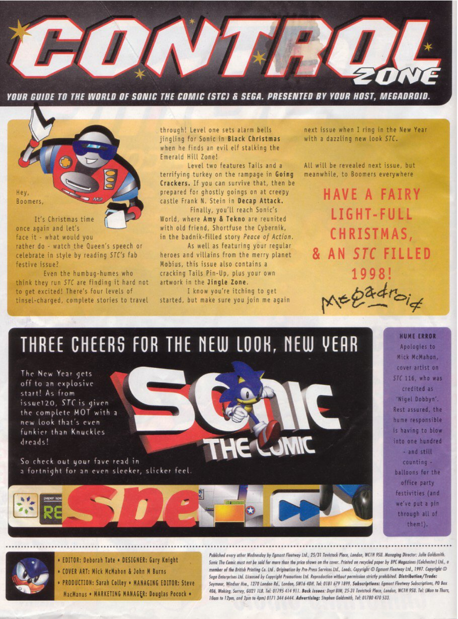Read online Sonic the Comic comic -  Issue #119 - 2
