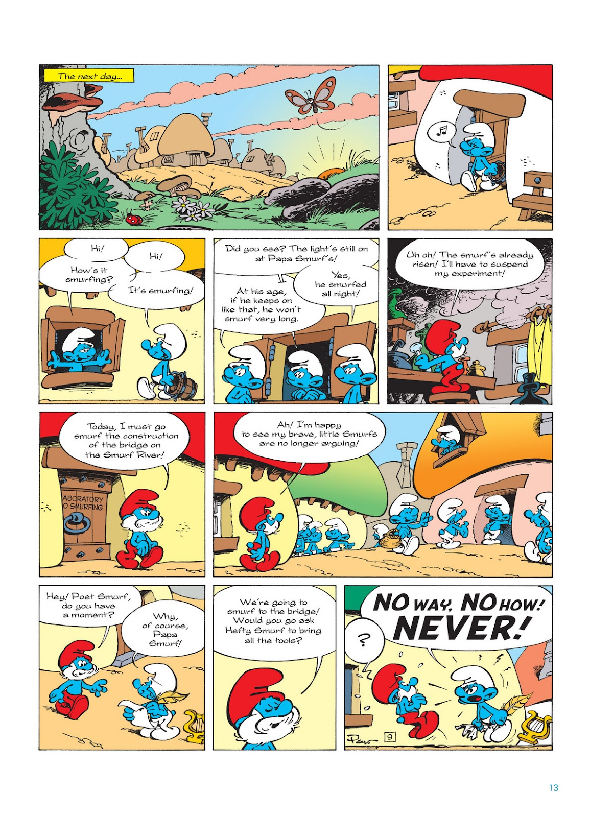Read online The Smurfs comic -  Issue #12 - 13