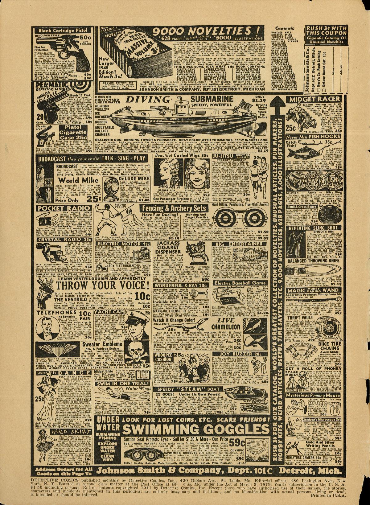 Read online Detective Comics (1937) comic -  Issue #55 - 2