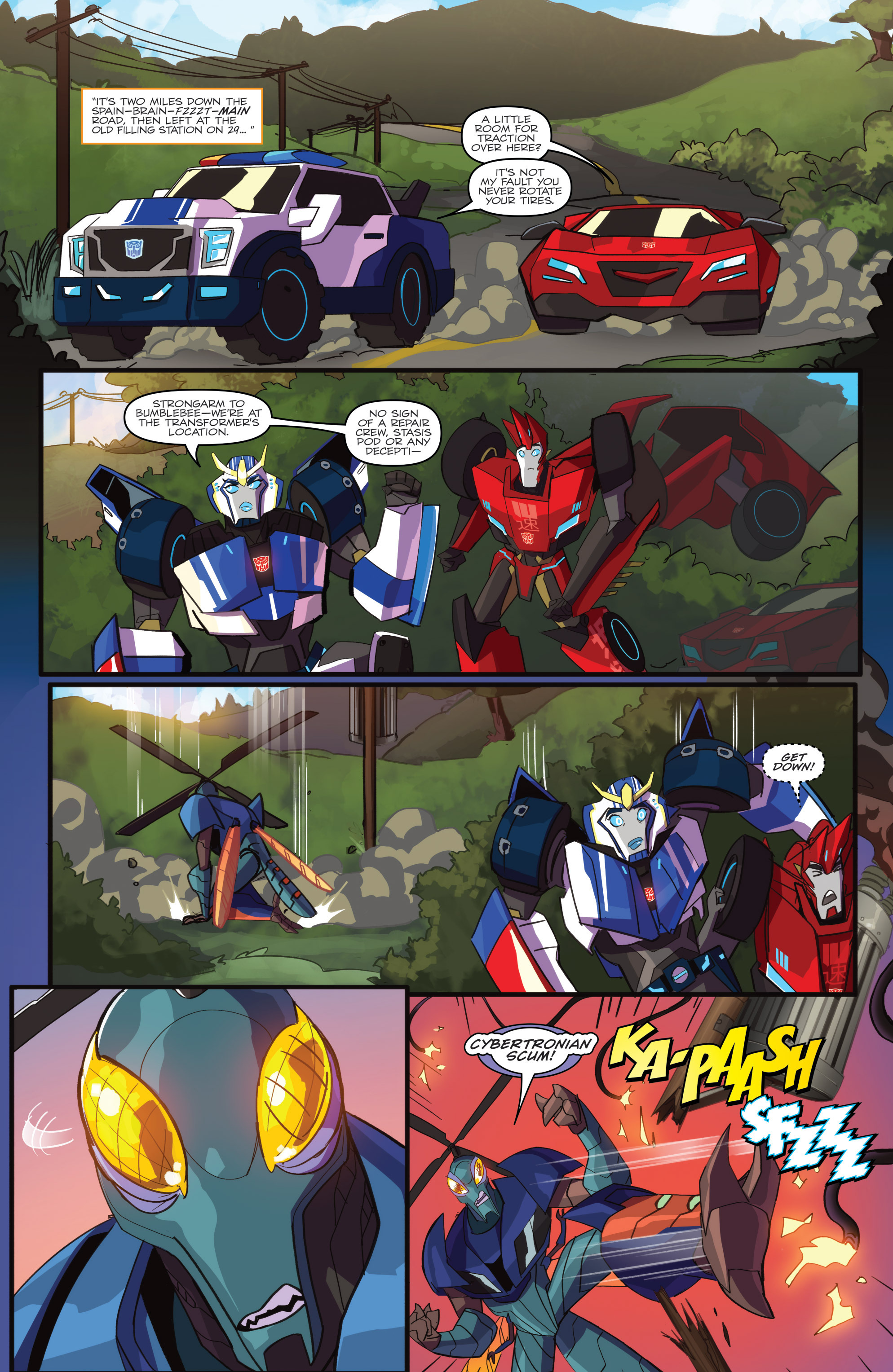 Read online Transformers: Robots In Disguise (2015) comic -  Issue #1 - 9