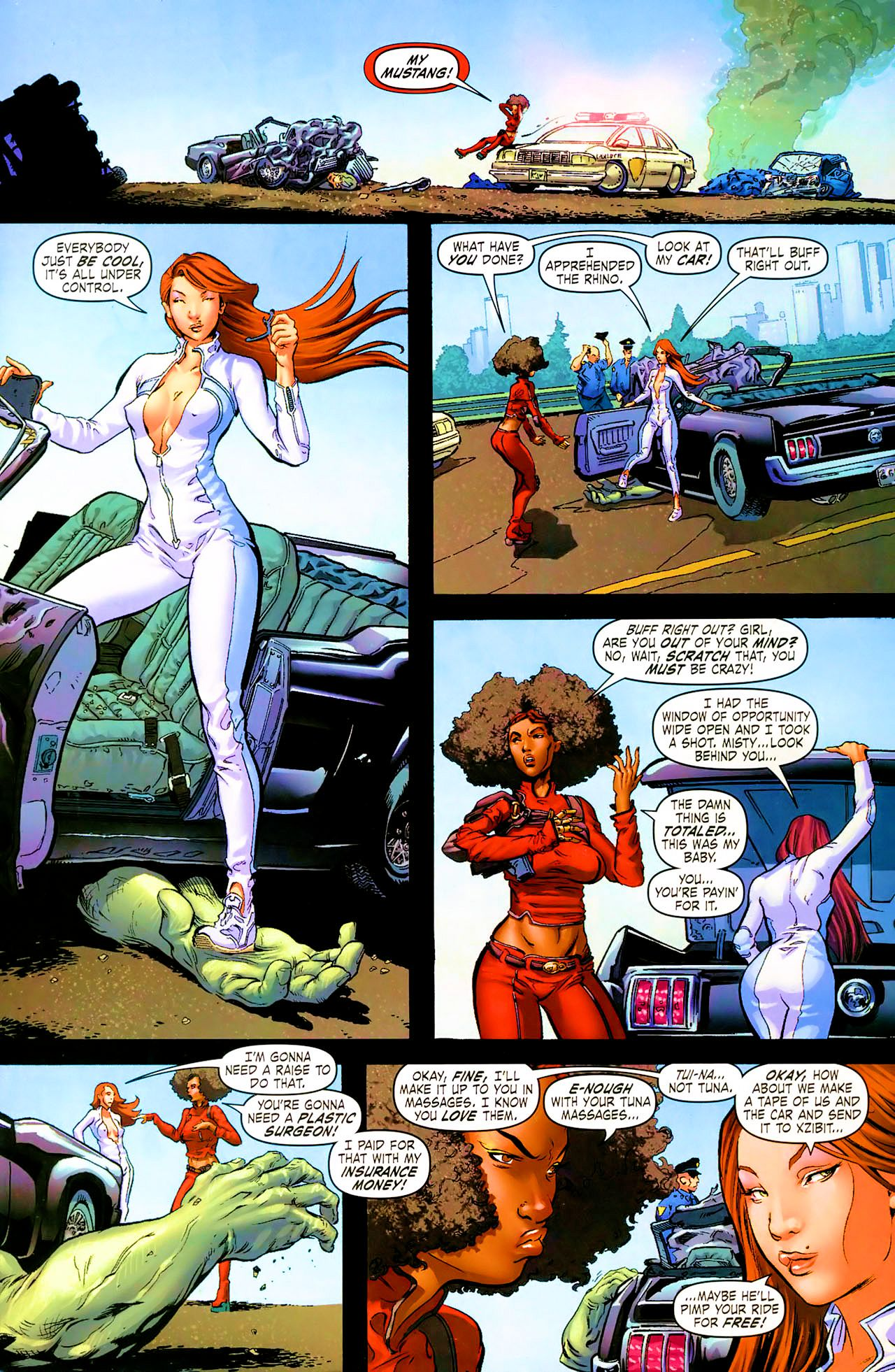Read online Daughters of the Dragon comic -  Issue #1 - 7