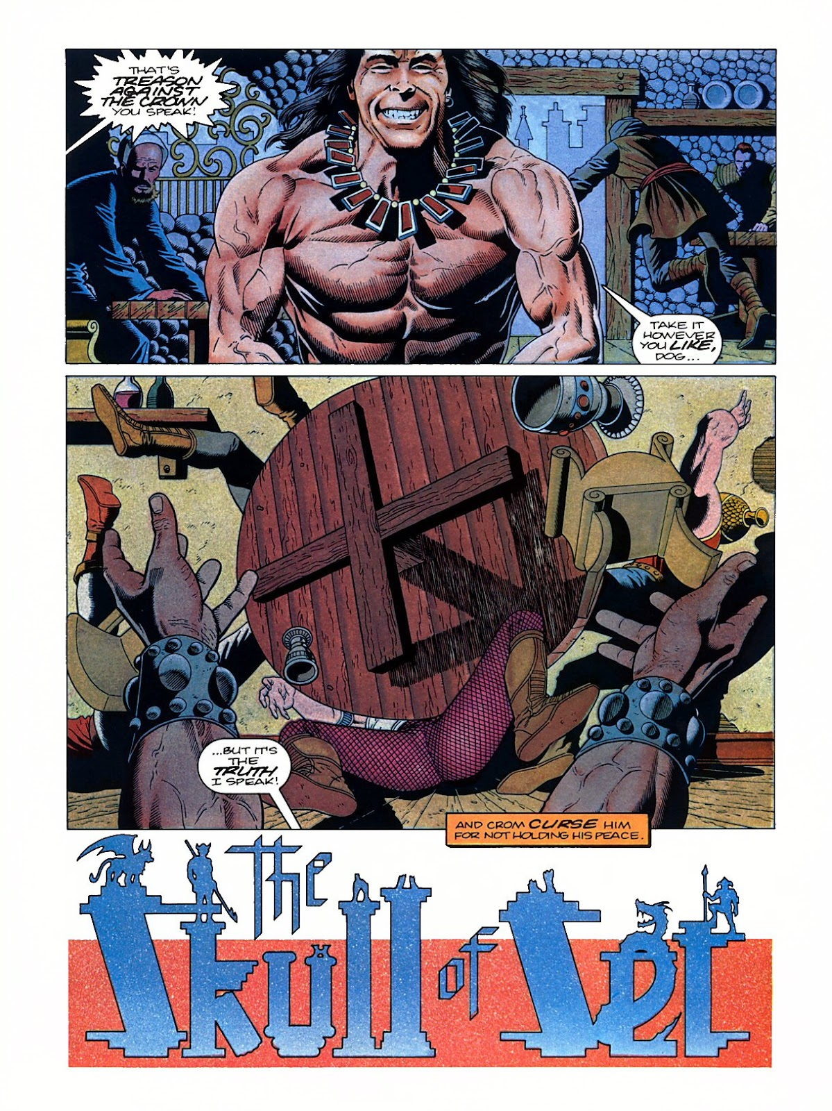Read online Marvel Graphic Novel: Conan the Barbarian: The Skull of Set comic -  Issue # Full - 5