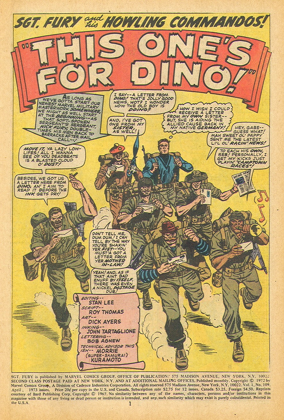 Read online Sgt. Fury comic -  Issue #109 - 3