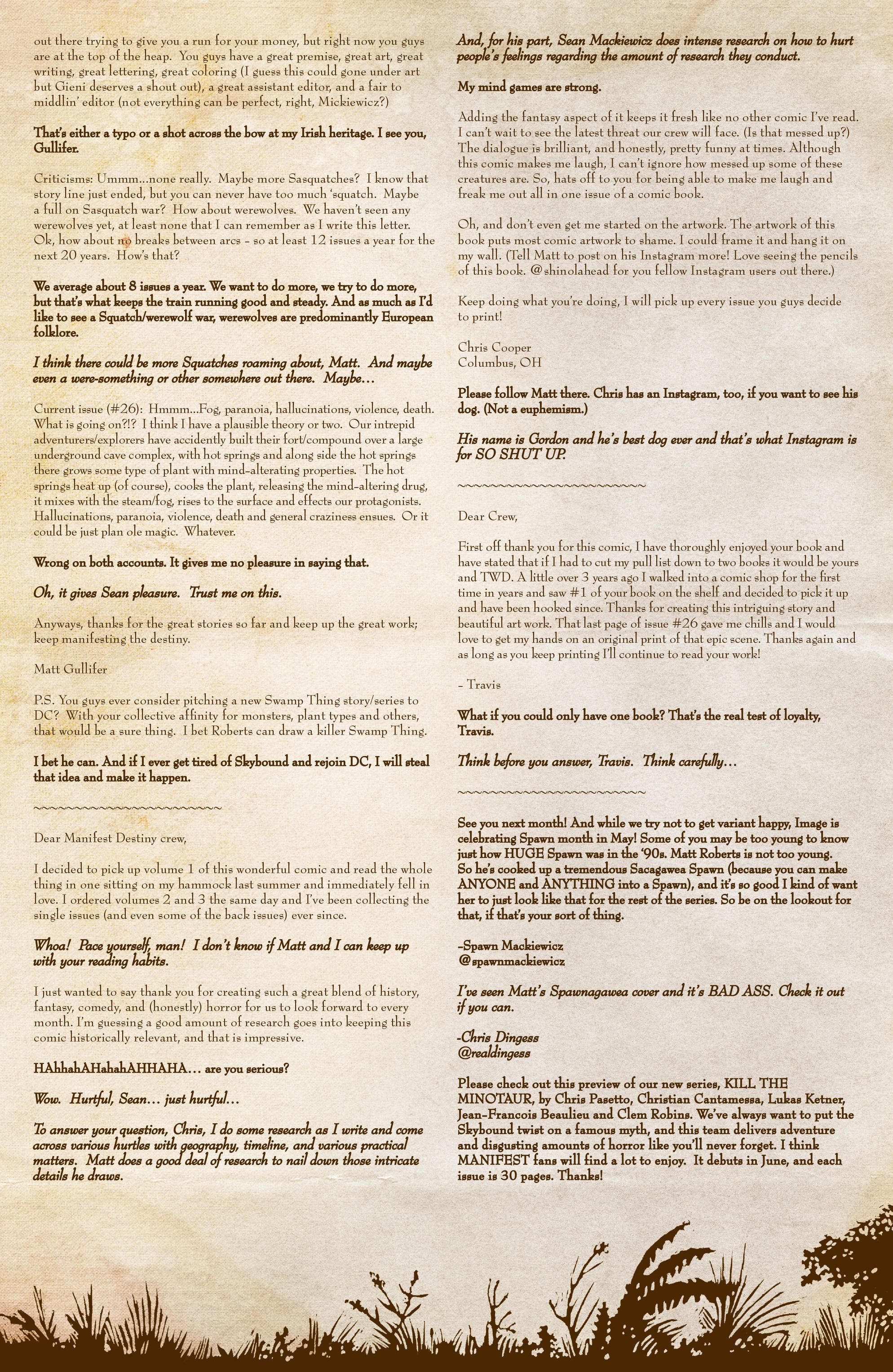 Read online Manifest Destiny comic -  Issue #28 - 24