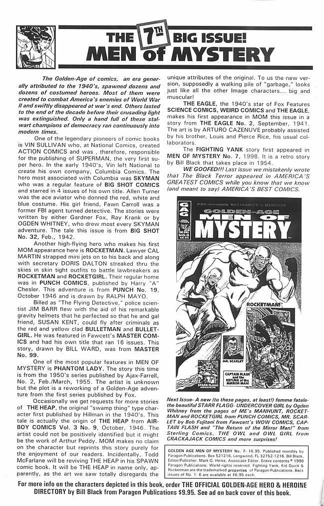 Read online Golden-Age Men of Mystery comic -  Issue #7 - 2