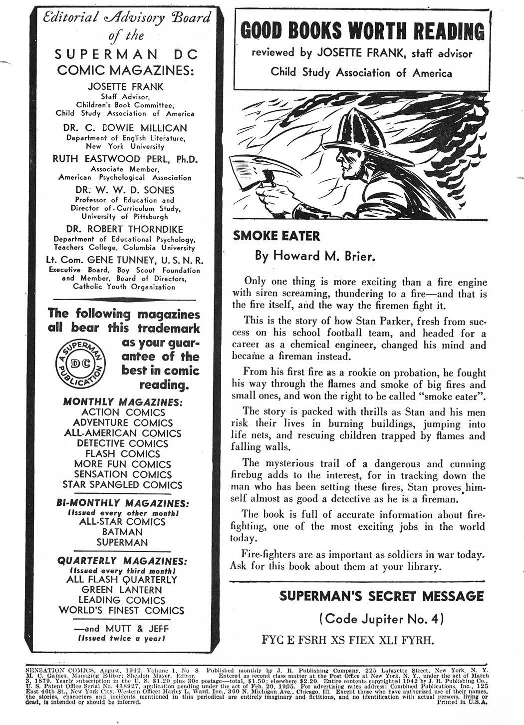 Read online Sensation (Mystery) Comics comic -  Issue #8 - 2