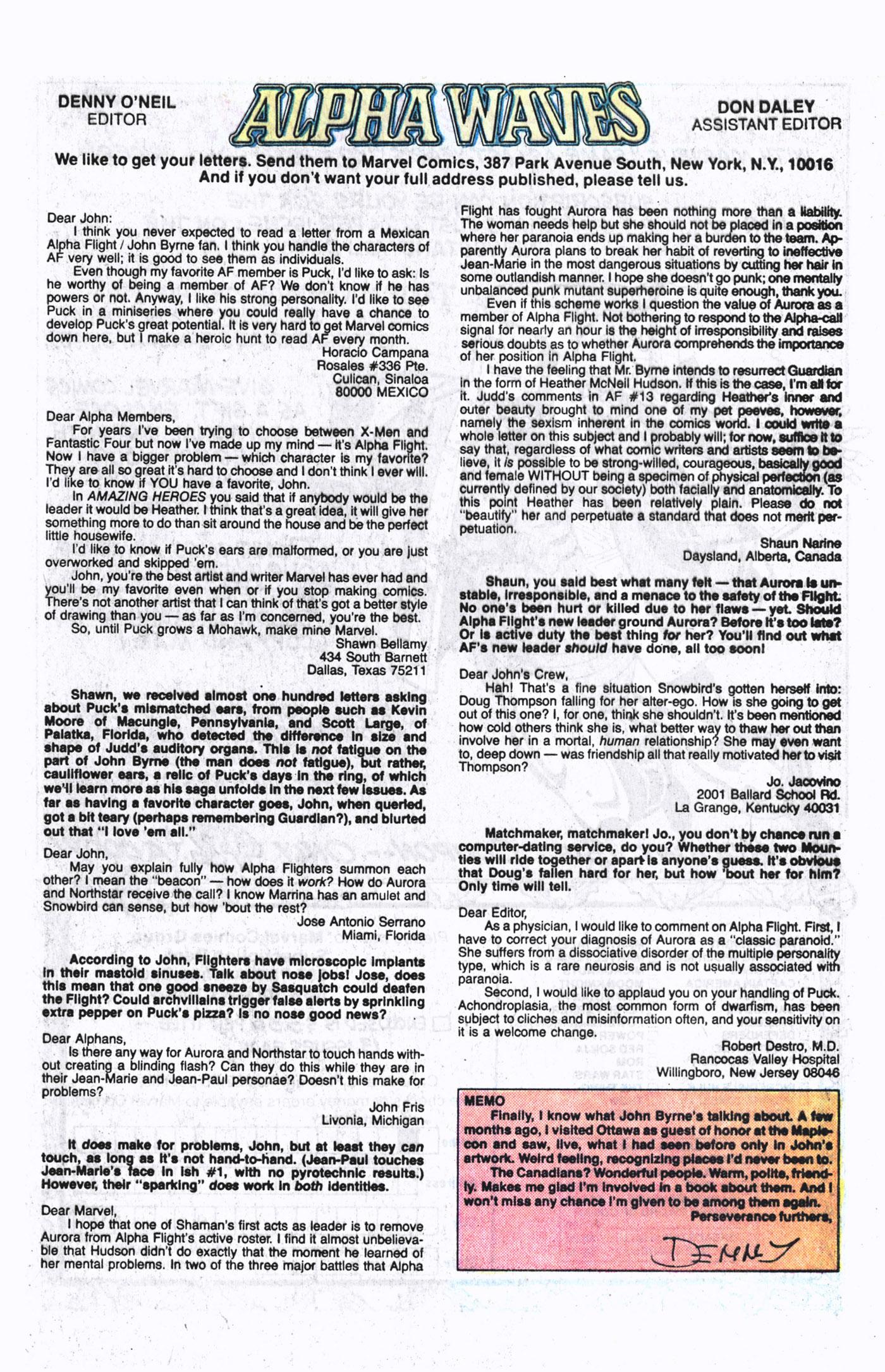 Read online Alpha Flight (1983) comic -  Issue #19 - 25
