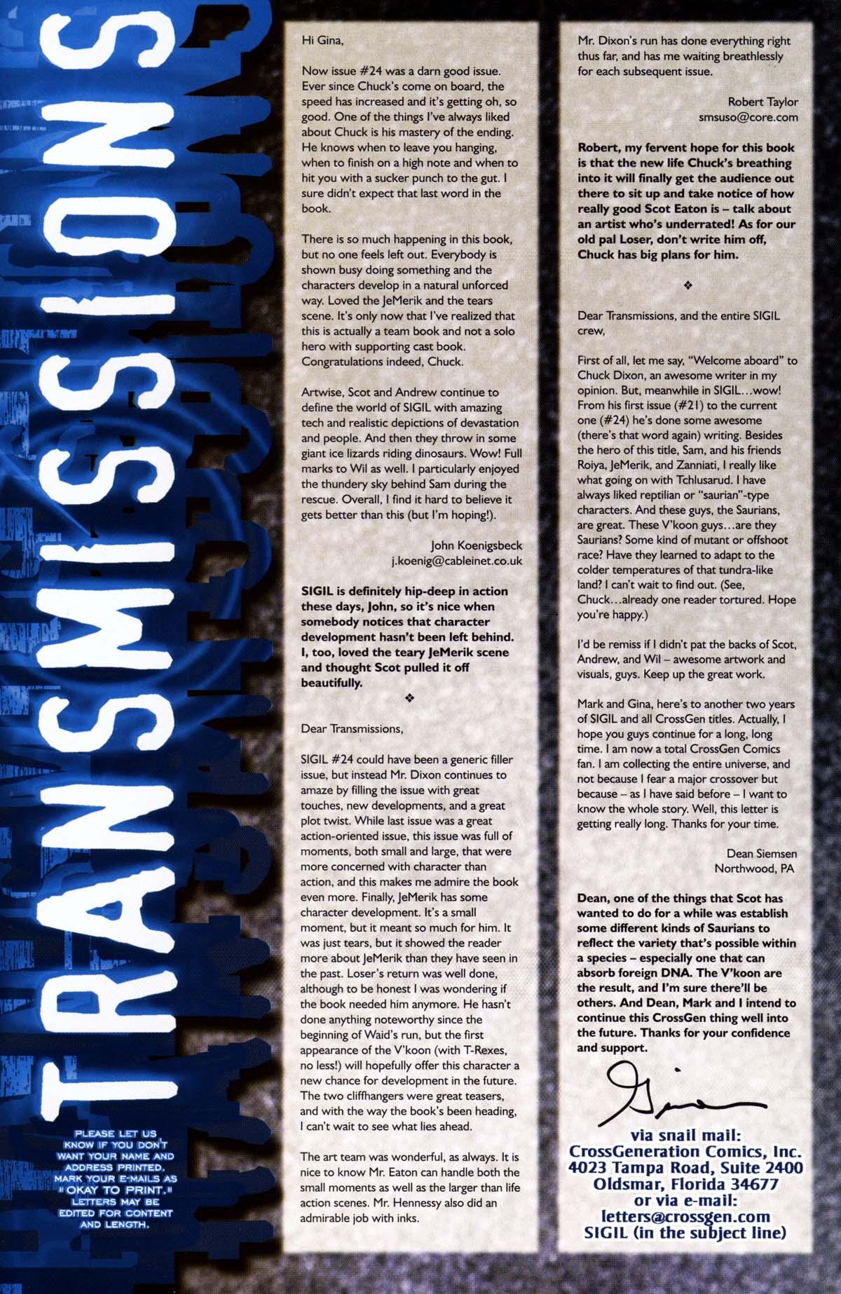 Read online Sigil (2000) comic -  Issue #26 - 45