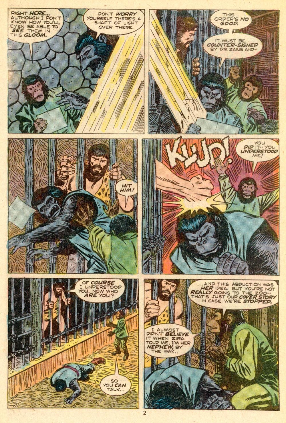 Read online Adventures on the Planet of the Apes comic -  Issue #5 - 3