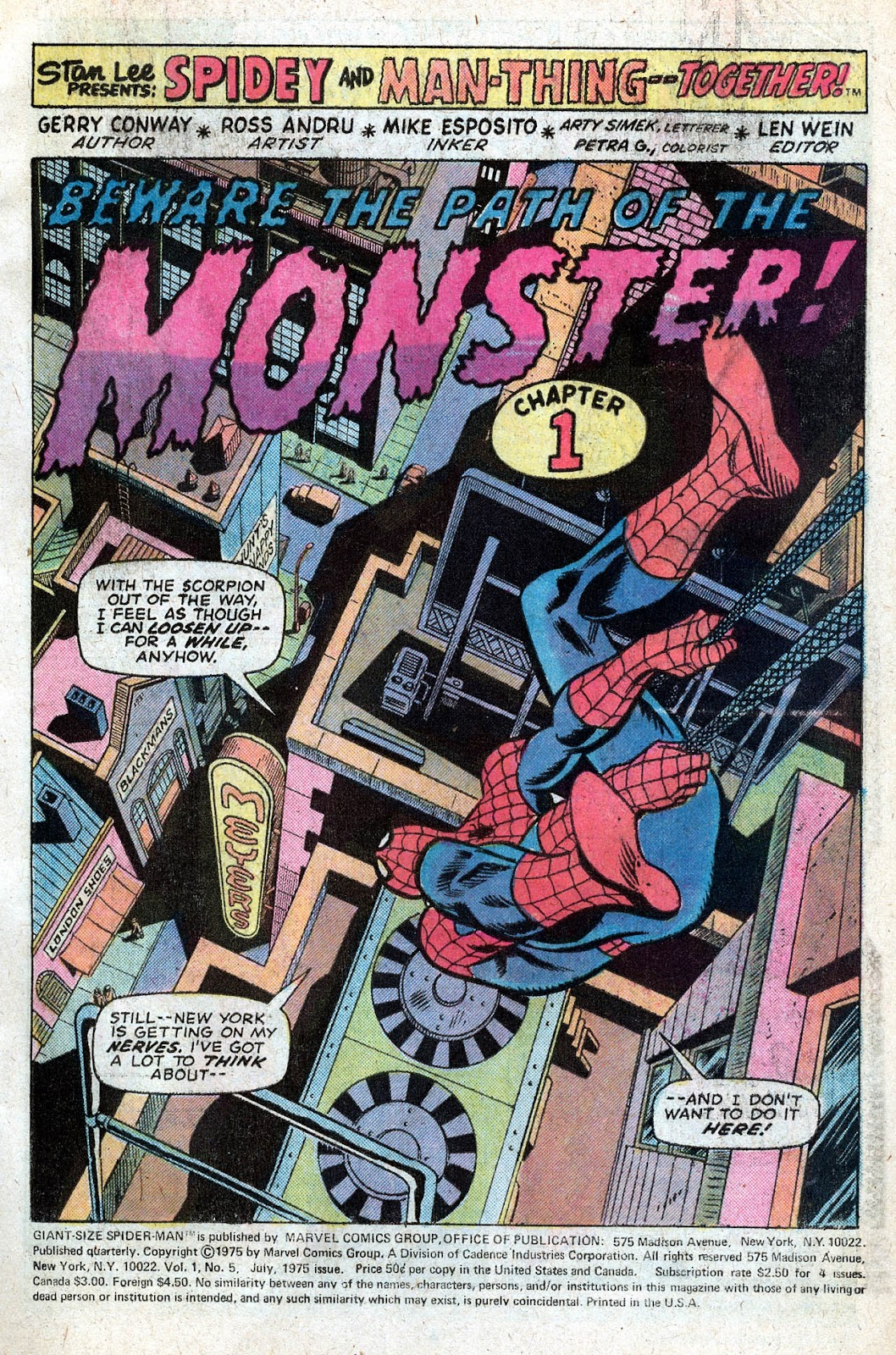Giant-Size Spider-Man (1974) issue 5 - Page 3