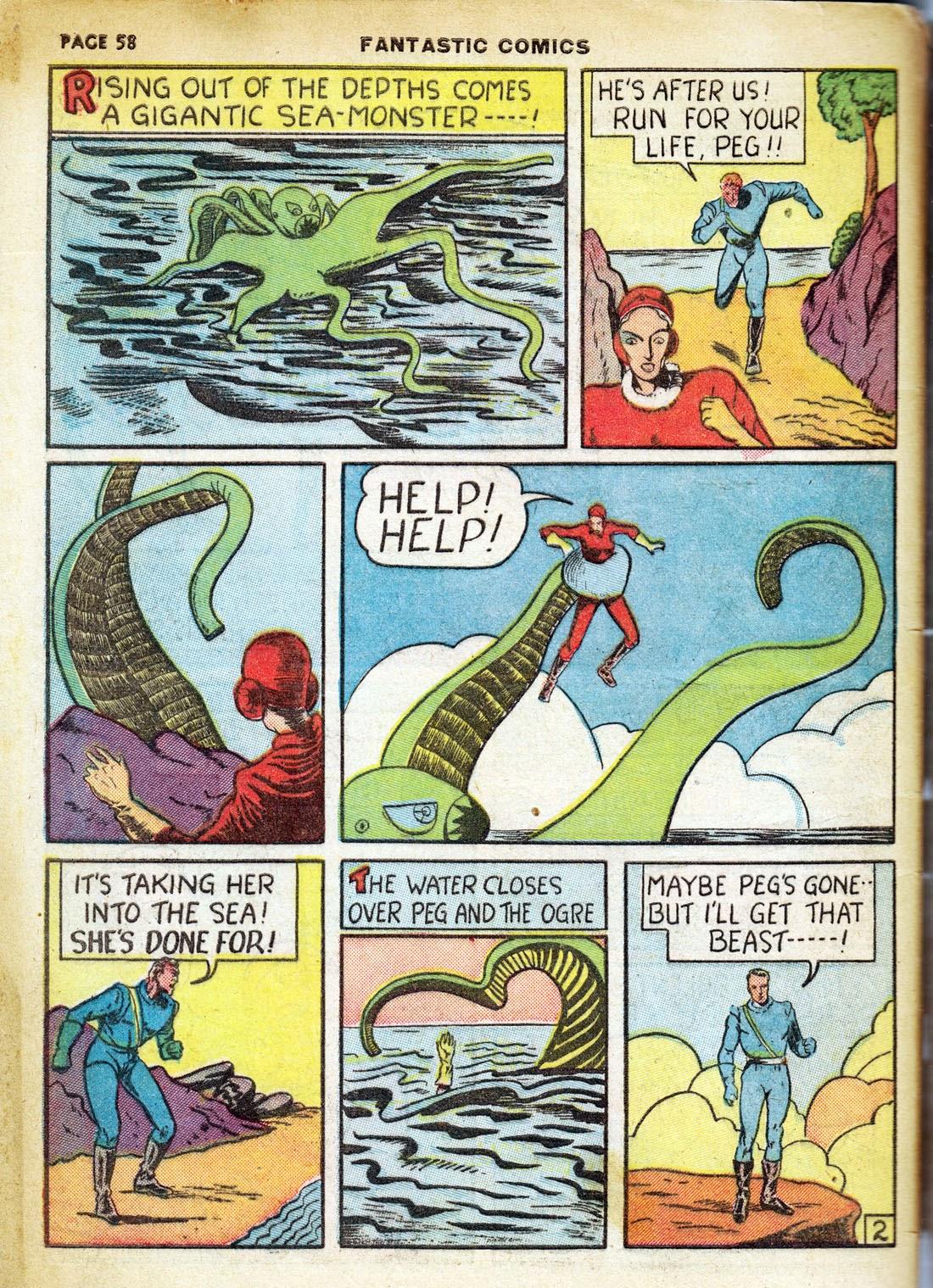 Read online Fantastic Comics comic -  Issue #7 - 60