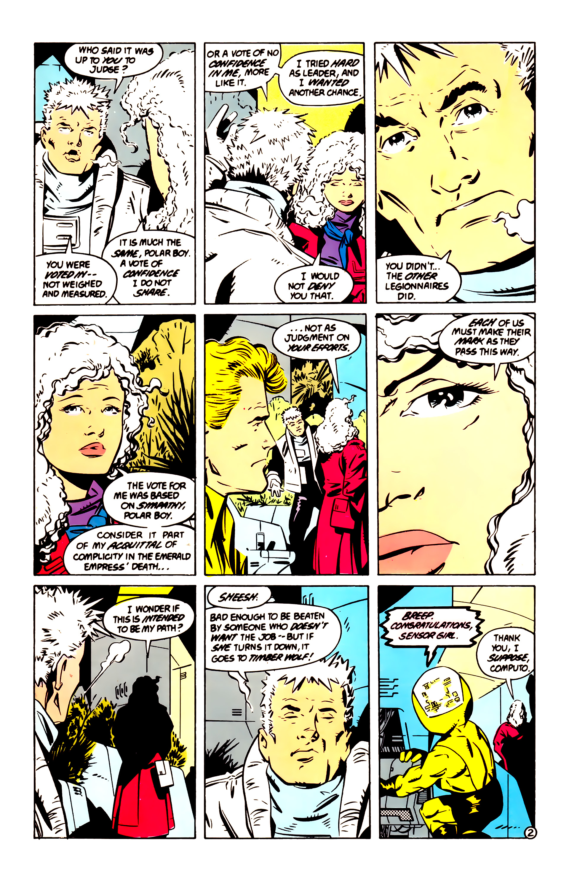 Legion of Super-Heroes (1984) 60 Page 2