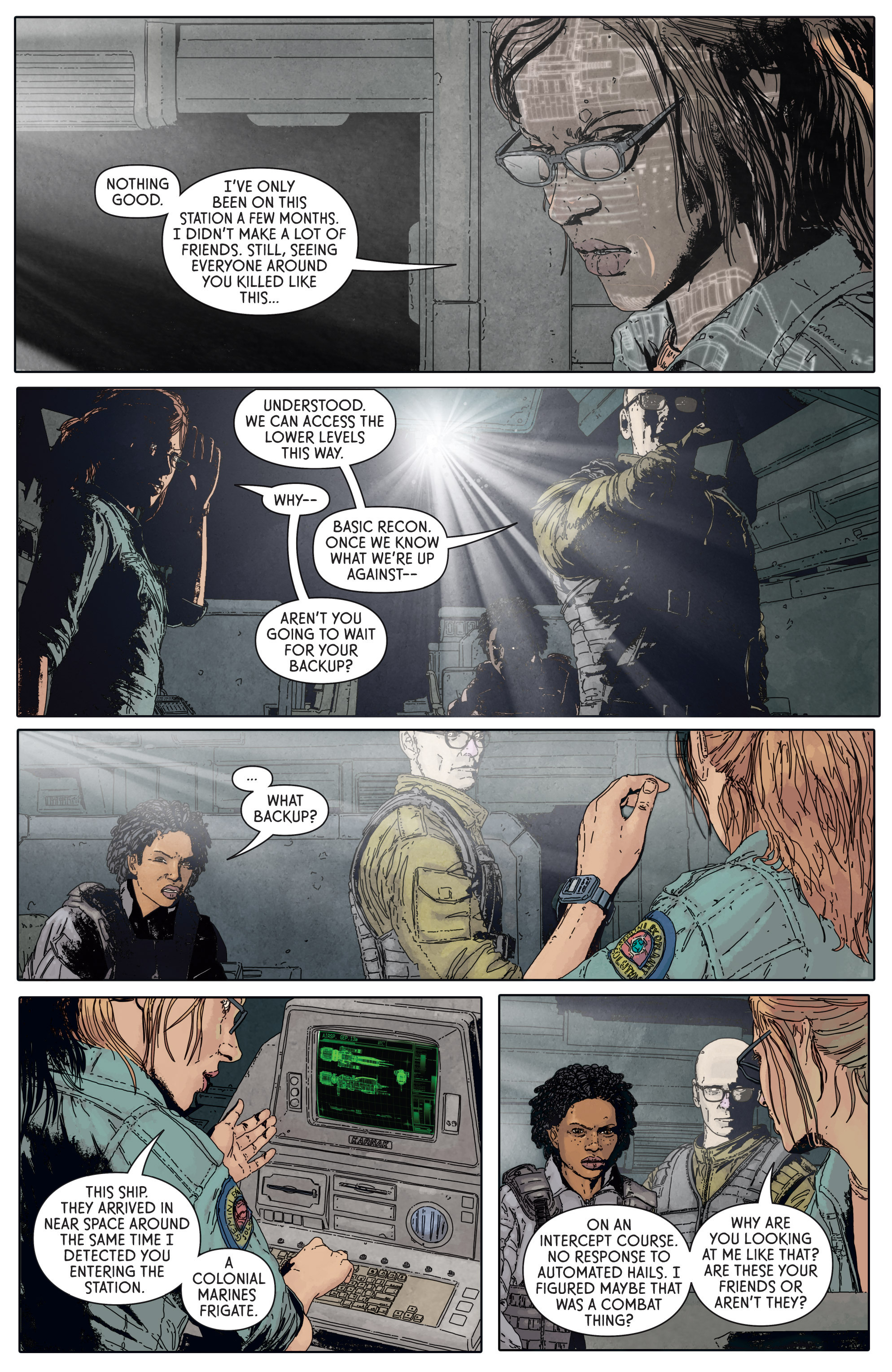 Read online Aliens: Defiance comic -  Issue #5 - 16