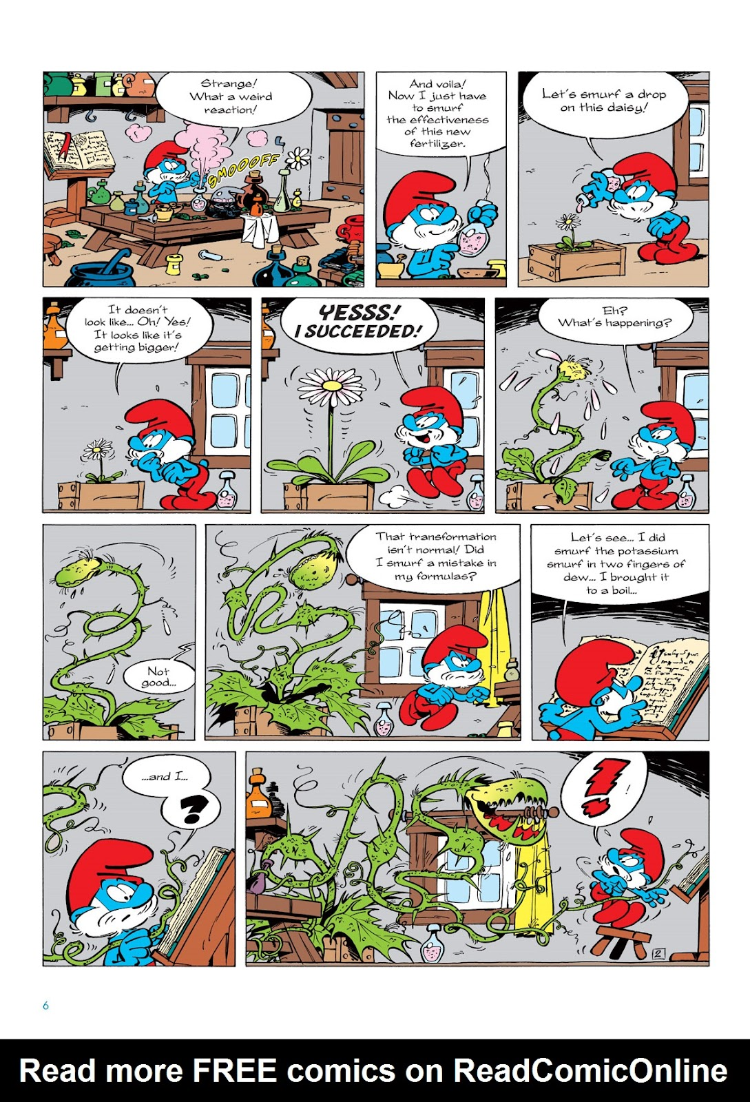 Read online The Smurfs comic -  Issue #6 - 6