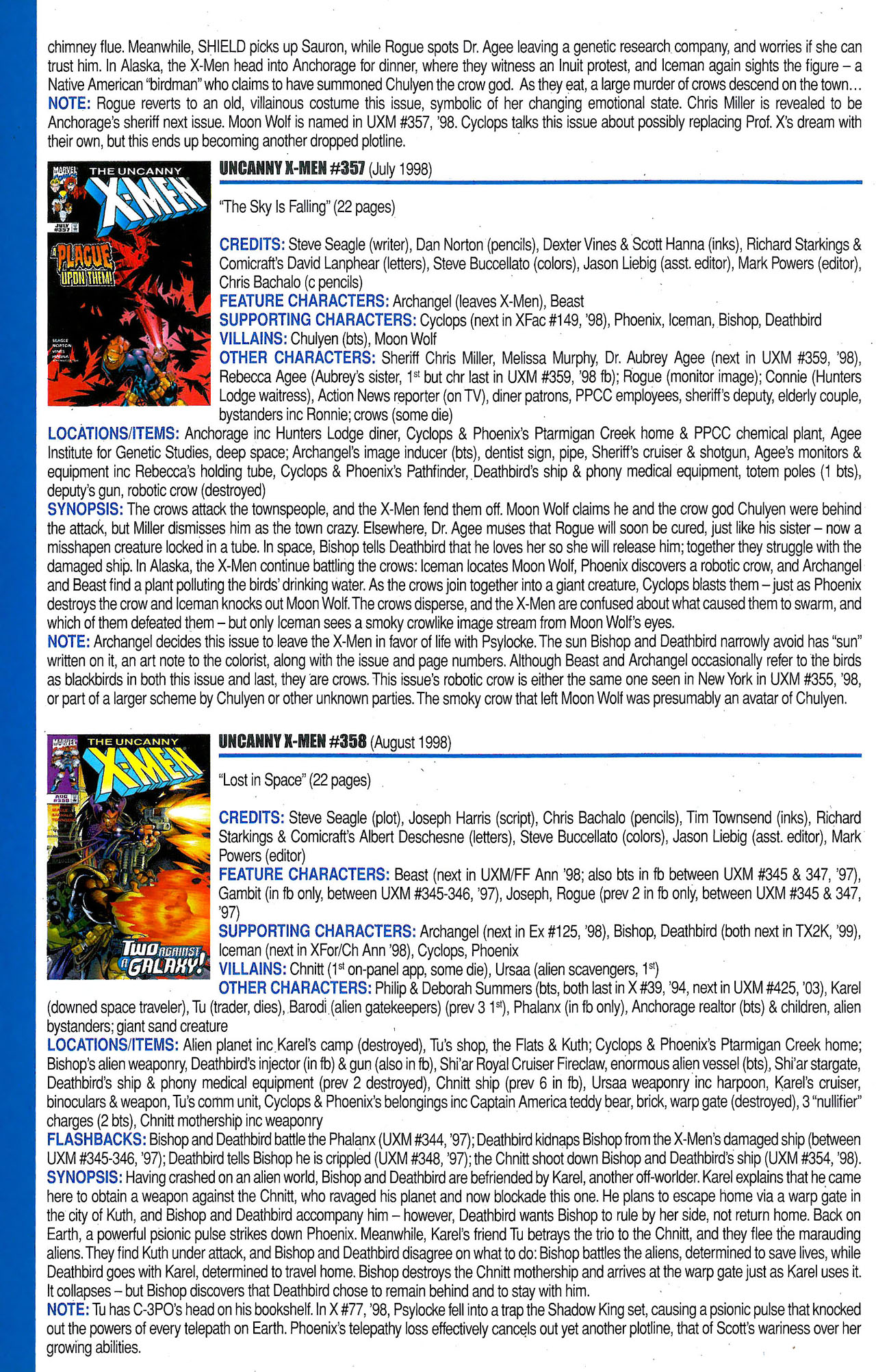 Read online Official Index to the Marvel Universe comic -  Issue #9 - 56