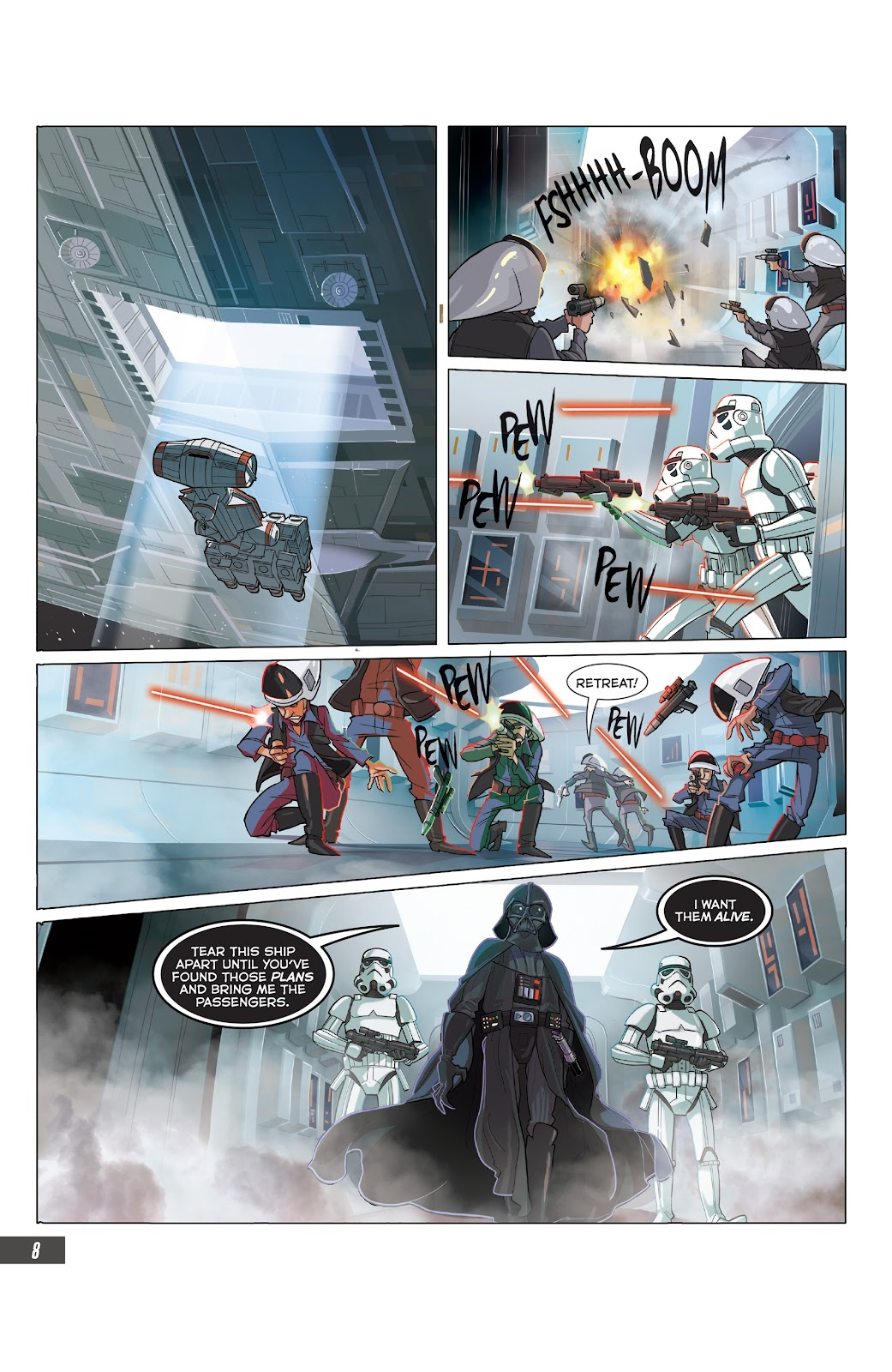 Read online Star Wars Adventures: Flight of the Falcon comic -  Issue # Full - 32