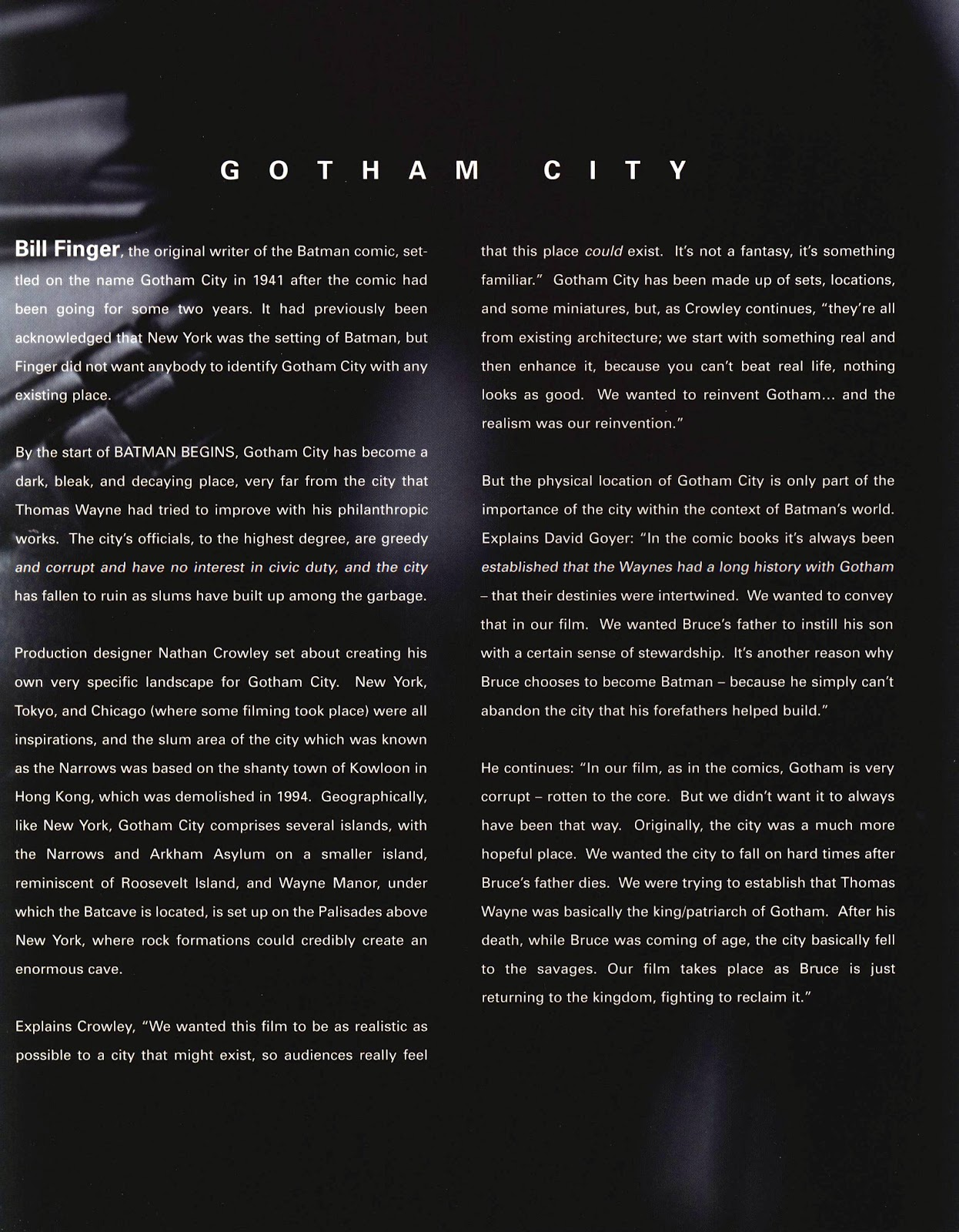 Read online Batman Begins: The Official Movie Guide comic -  Issue # TPB (Part 1) - 94