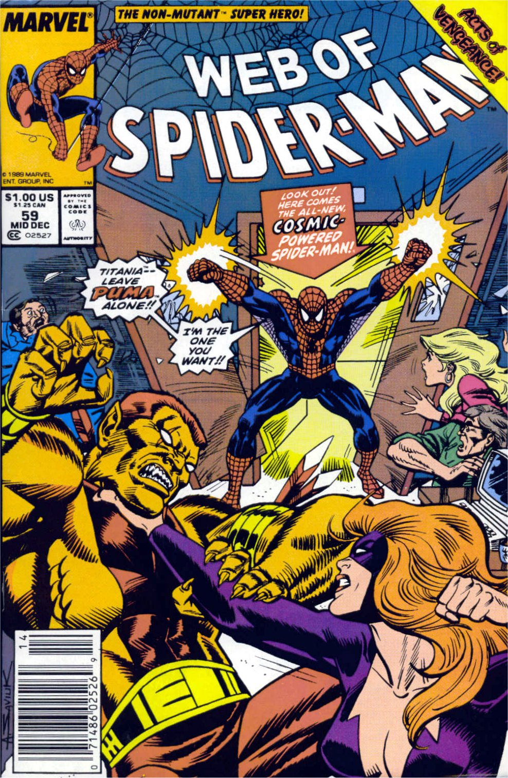 Web of Spider-Man (1985) 59 Page 1