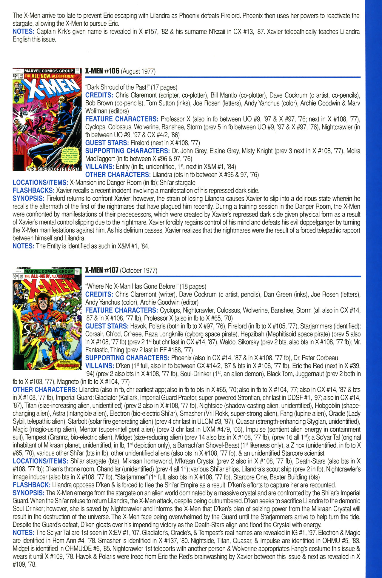 Read online Official Index to the Marvel Universe comic -  Issue #2 - 65