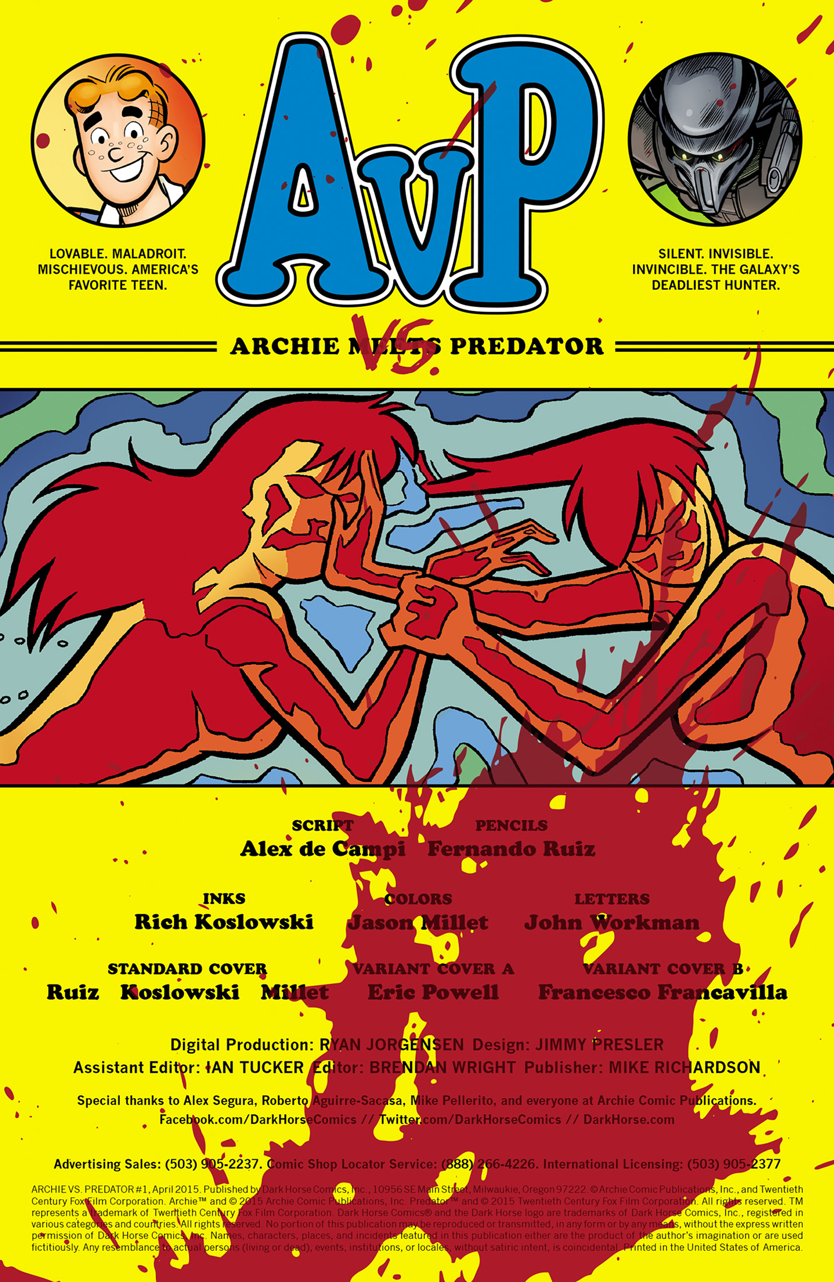 Read online Archie vs. Predator comic -  Issue #1 - 2