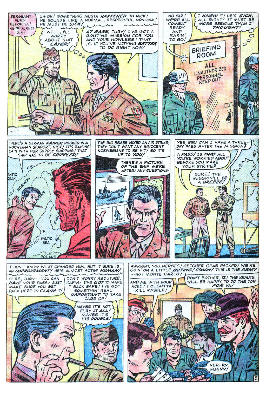 Read online Sgt. Fury comic -  Issue #18 - 9