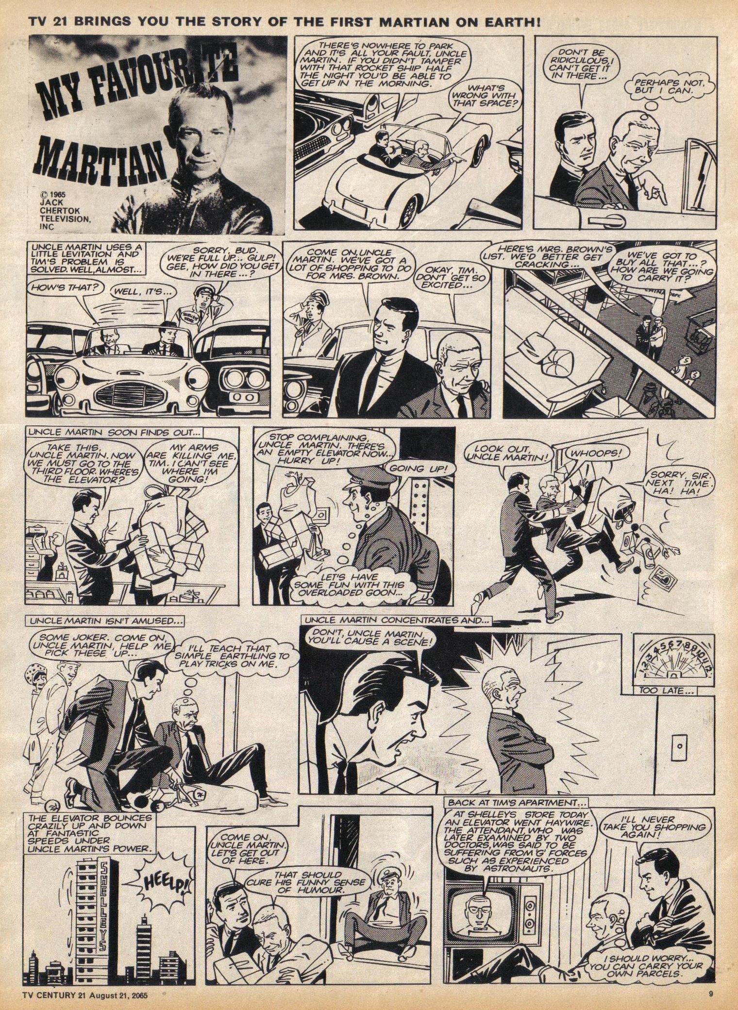 Read online TV Century 21 (TV 21) comic -  Issue #31 - 9