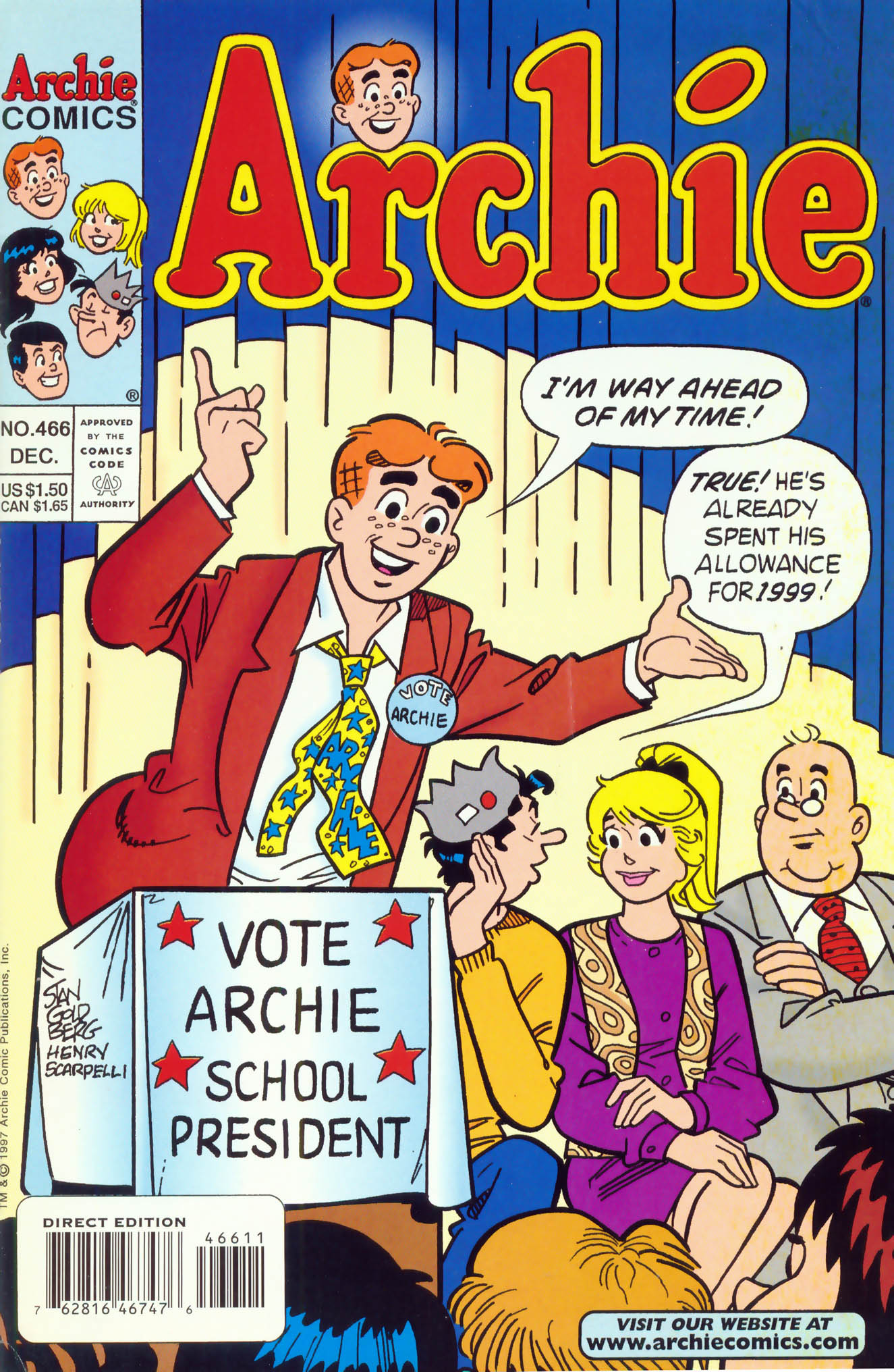 Read online Archie (1960) comic -  Issue #466 - 1
