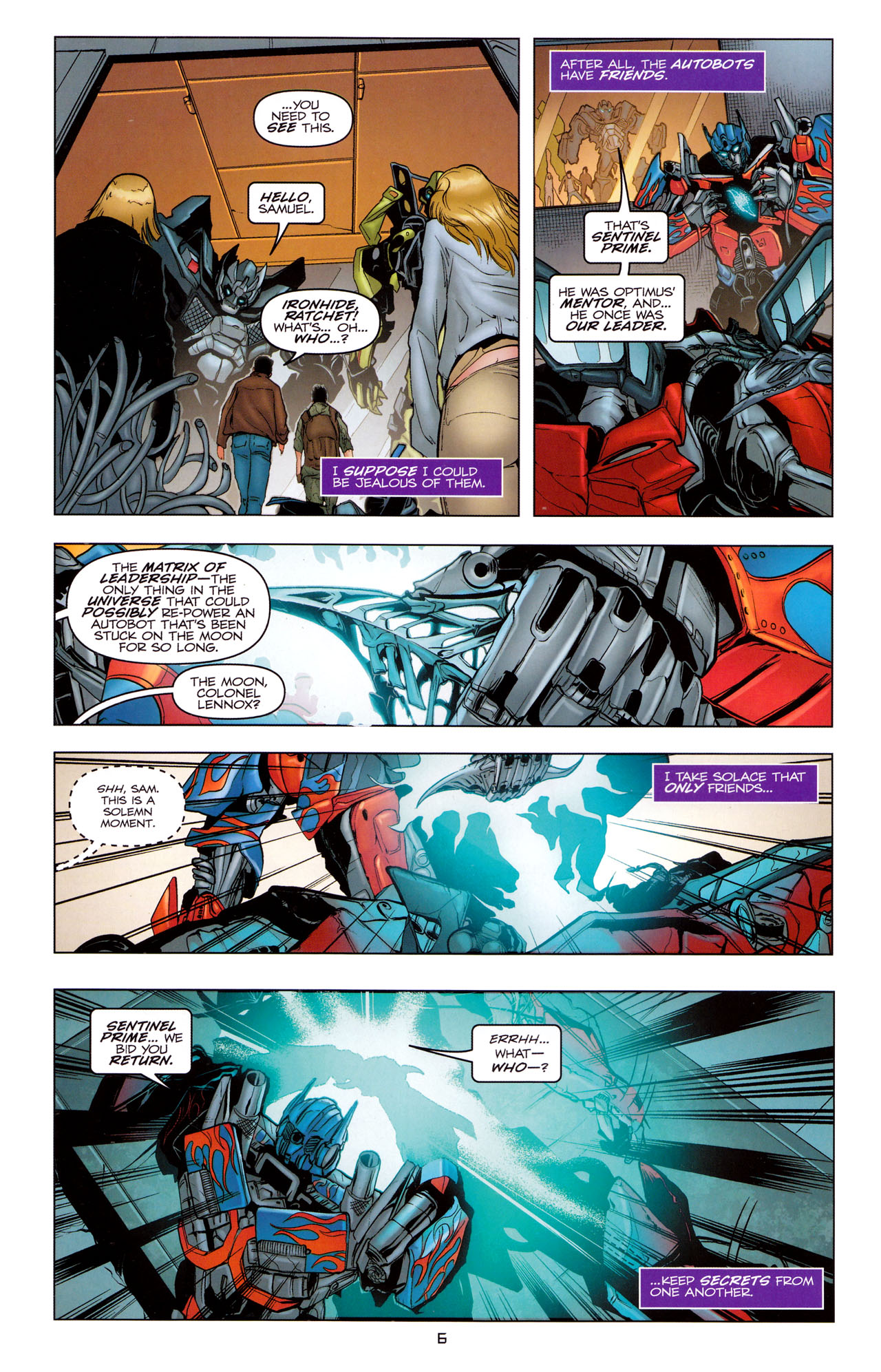 Read online Transformers: Dark of the Moon Movie Adaptation comic -  Issue #2 - 8