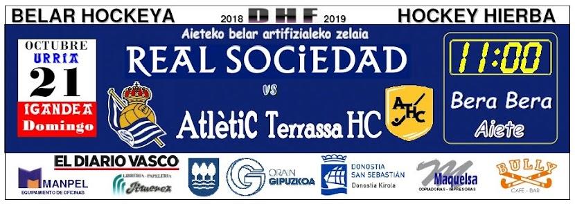 Partido Real Sociedad - ATLÊTIC Terrassa, publicado en Pág. 87 de El Diario Vasco del sábado 20