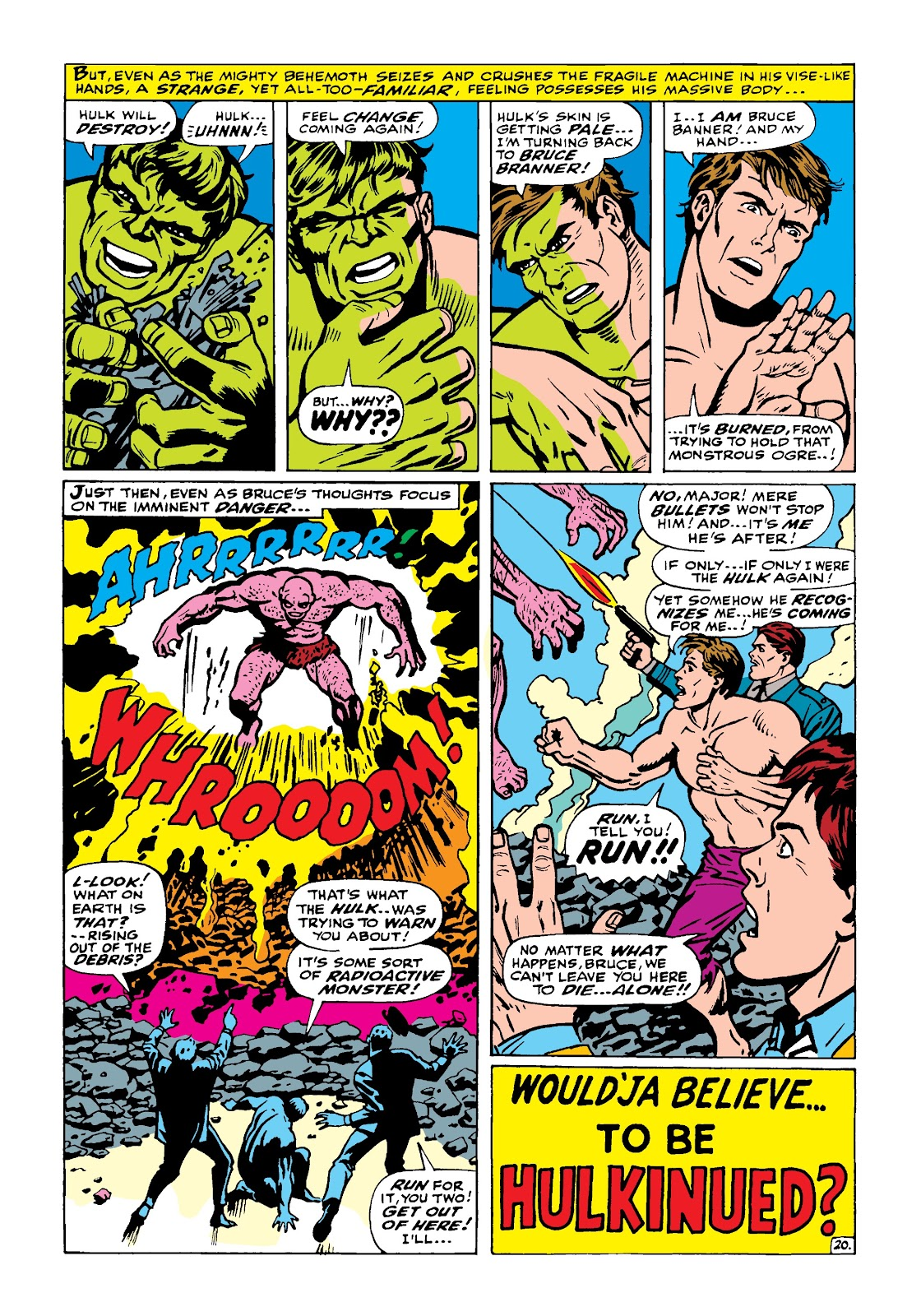 Read online Marvel Masterworks: The Incredible Hulk comic -  Issue # TPB 4 (Part 1) - 69
