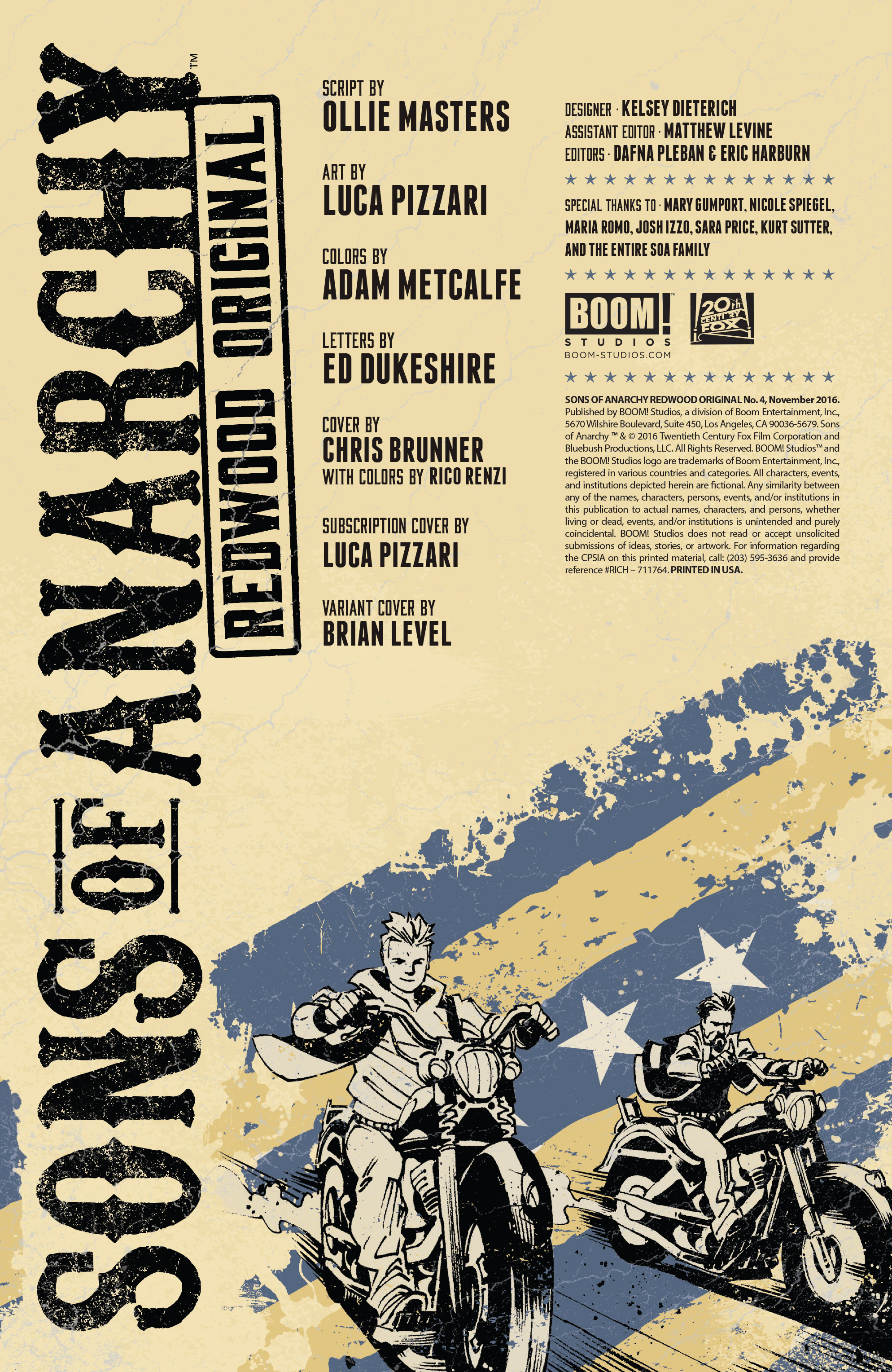 Read online Sons of Anarchy: Redwood Original comic -  Issue #4 - 2