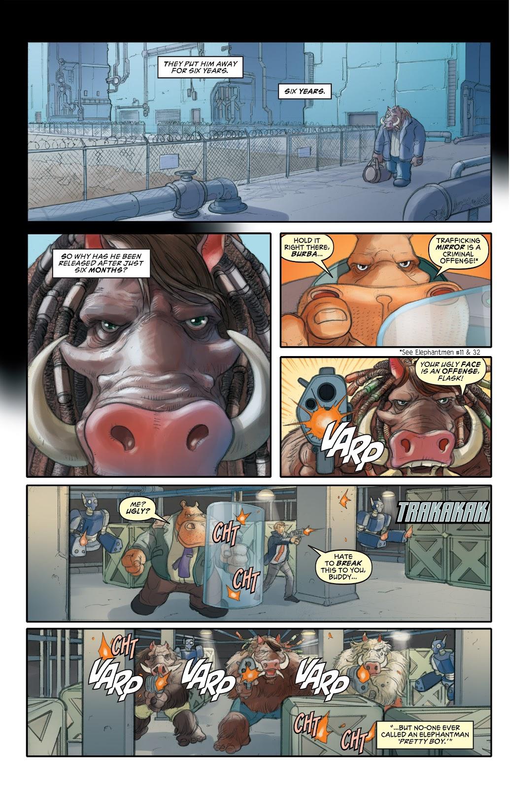 Read online Elephantmen 2261 Season Two: The Pentalion Job comic -  Issue # TPB - 9