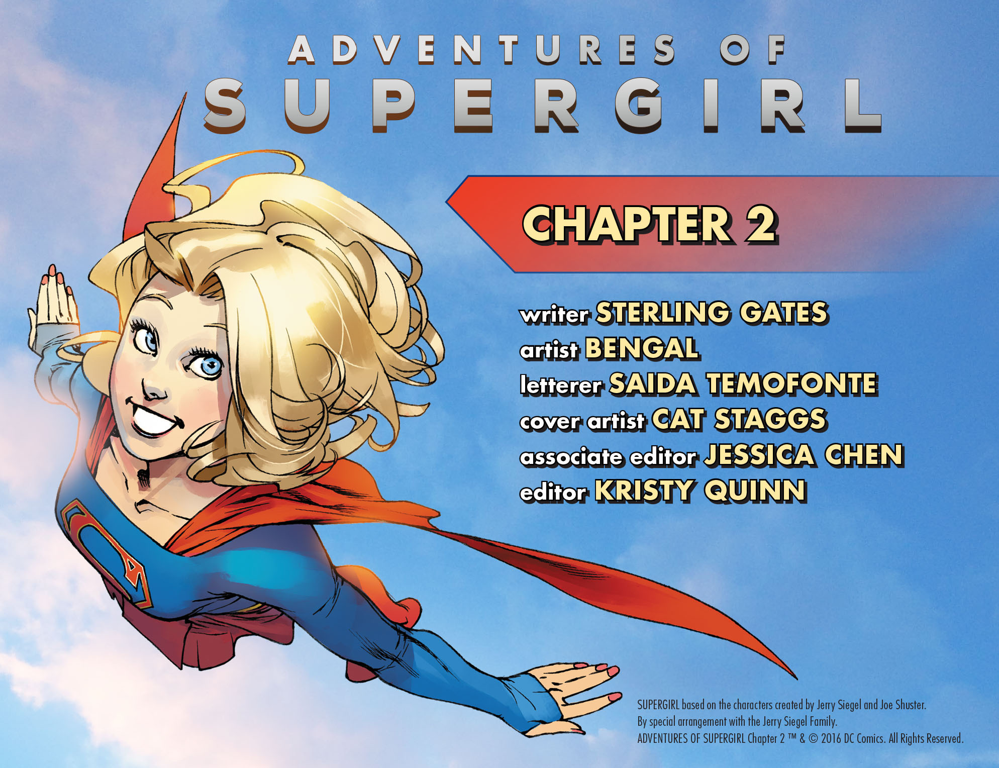 Read online Adventures of Supergirl comic -  Issue #2 - 2