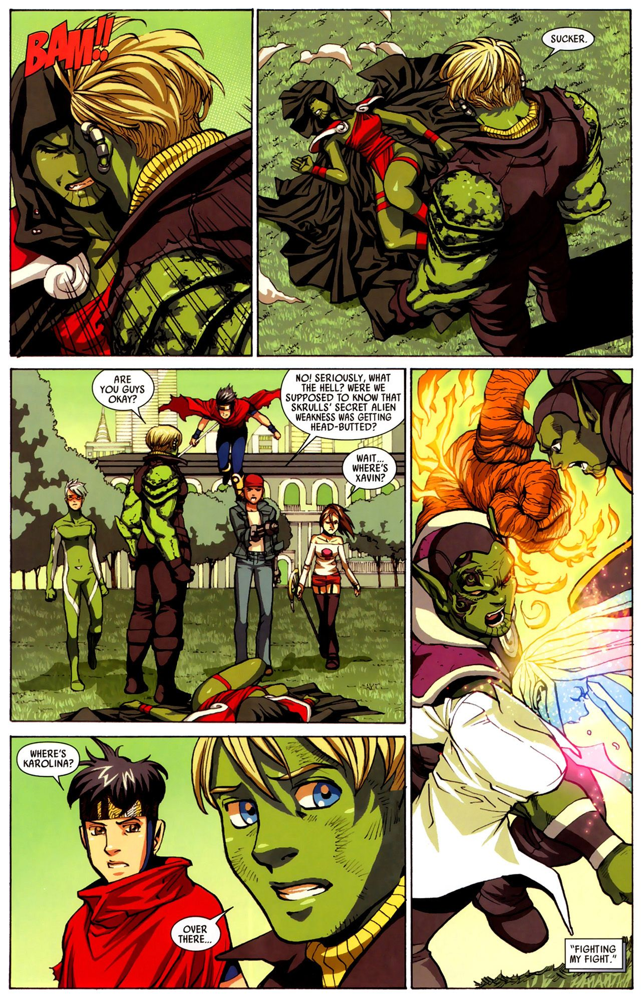 Read online Secret Invasion: Runaways/Young Avengers comic -  Issue #3 - 20