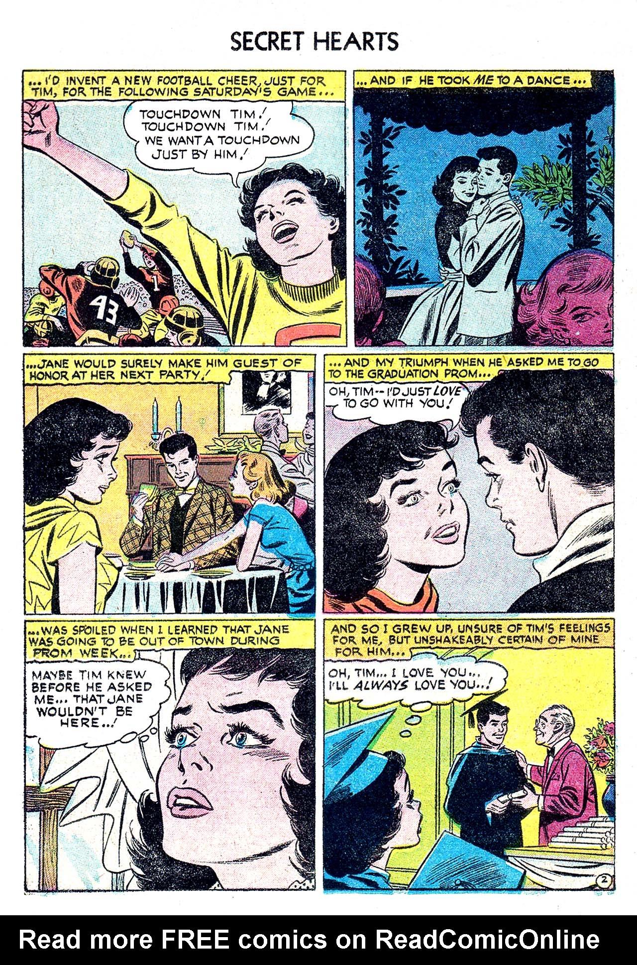 Read online Secret Hearts comic -  Issue #32 - 20