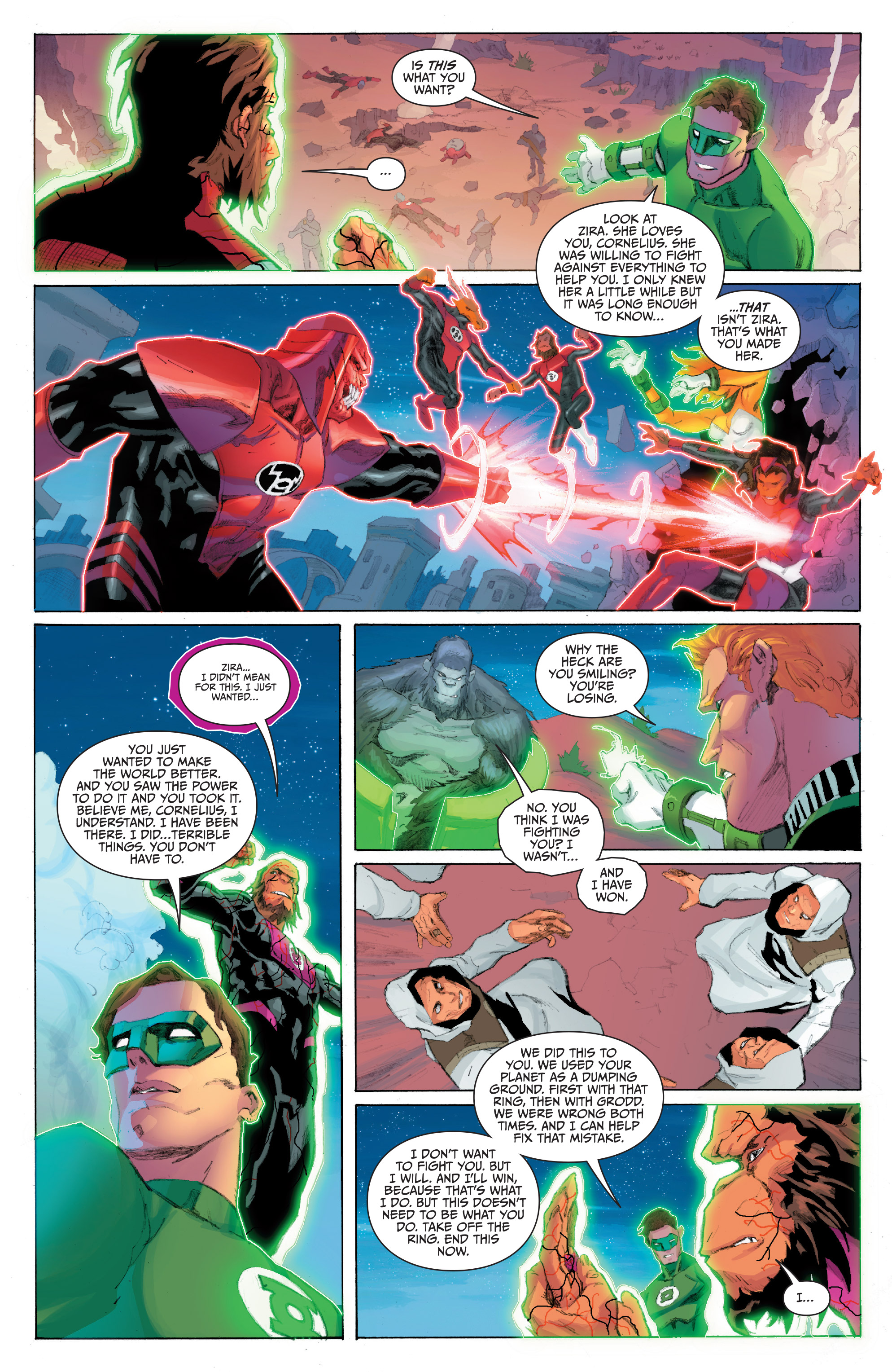Read online Planet of the Apes/Green Lantern comic -  Issue #5 - 15