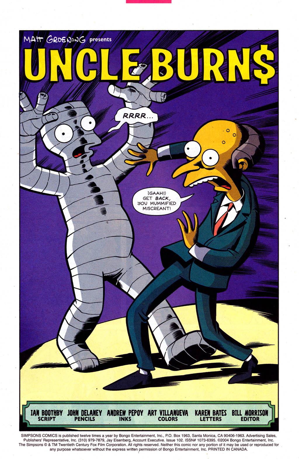 Read online Simpsons Comics comic -  Issue #102 - 2