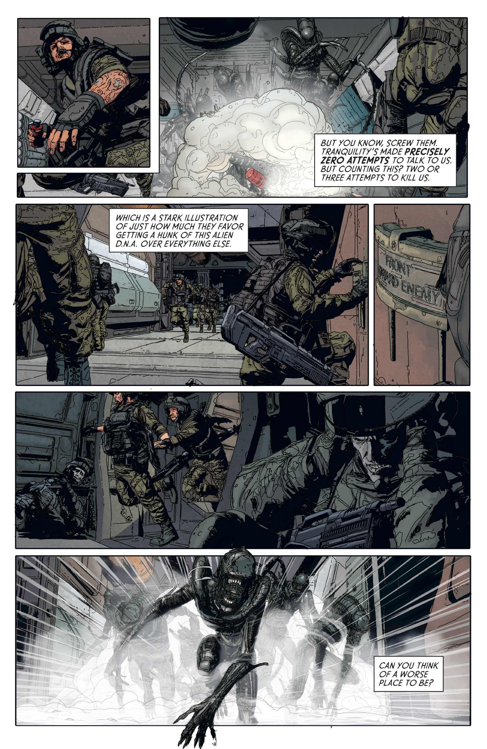Read online Aliens: Defiance comic -  Issue #6 - 5