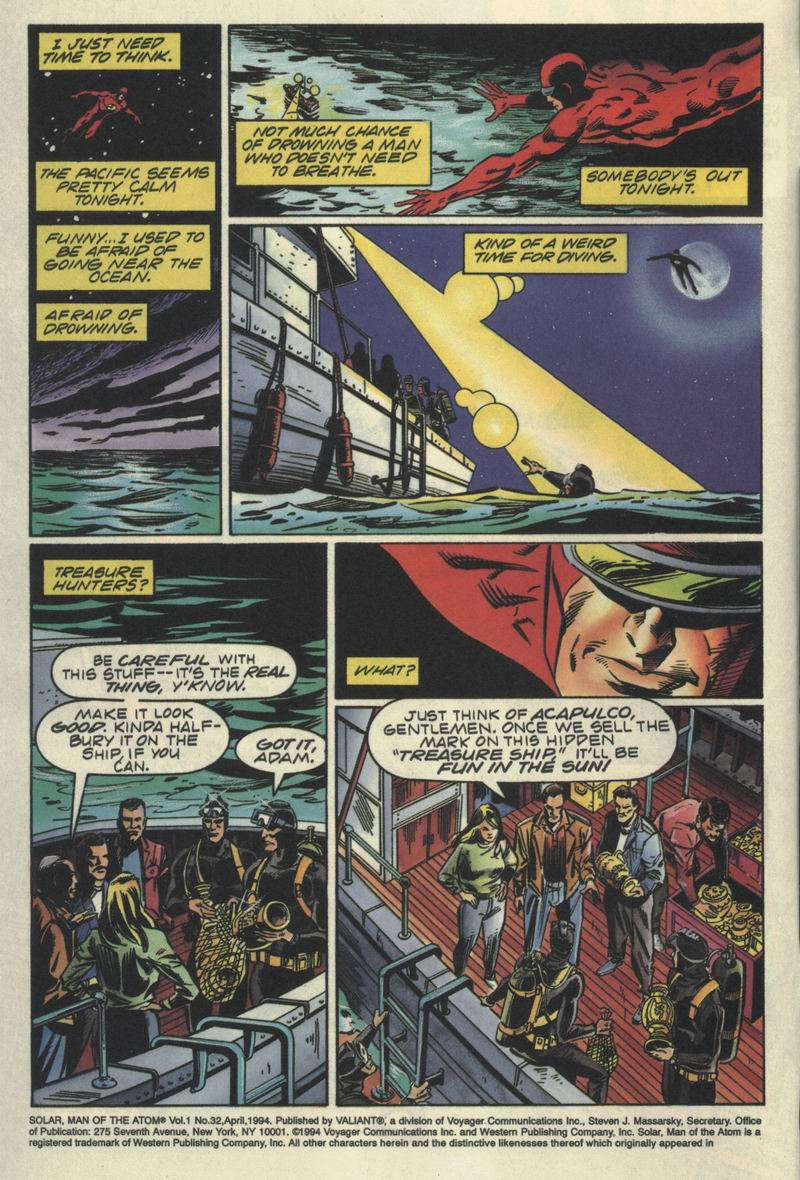 Read online Solar, Man of the Atom comic -  Issue #32 - 3